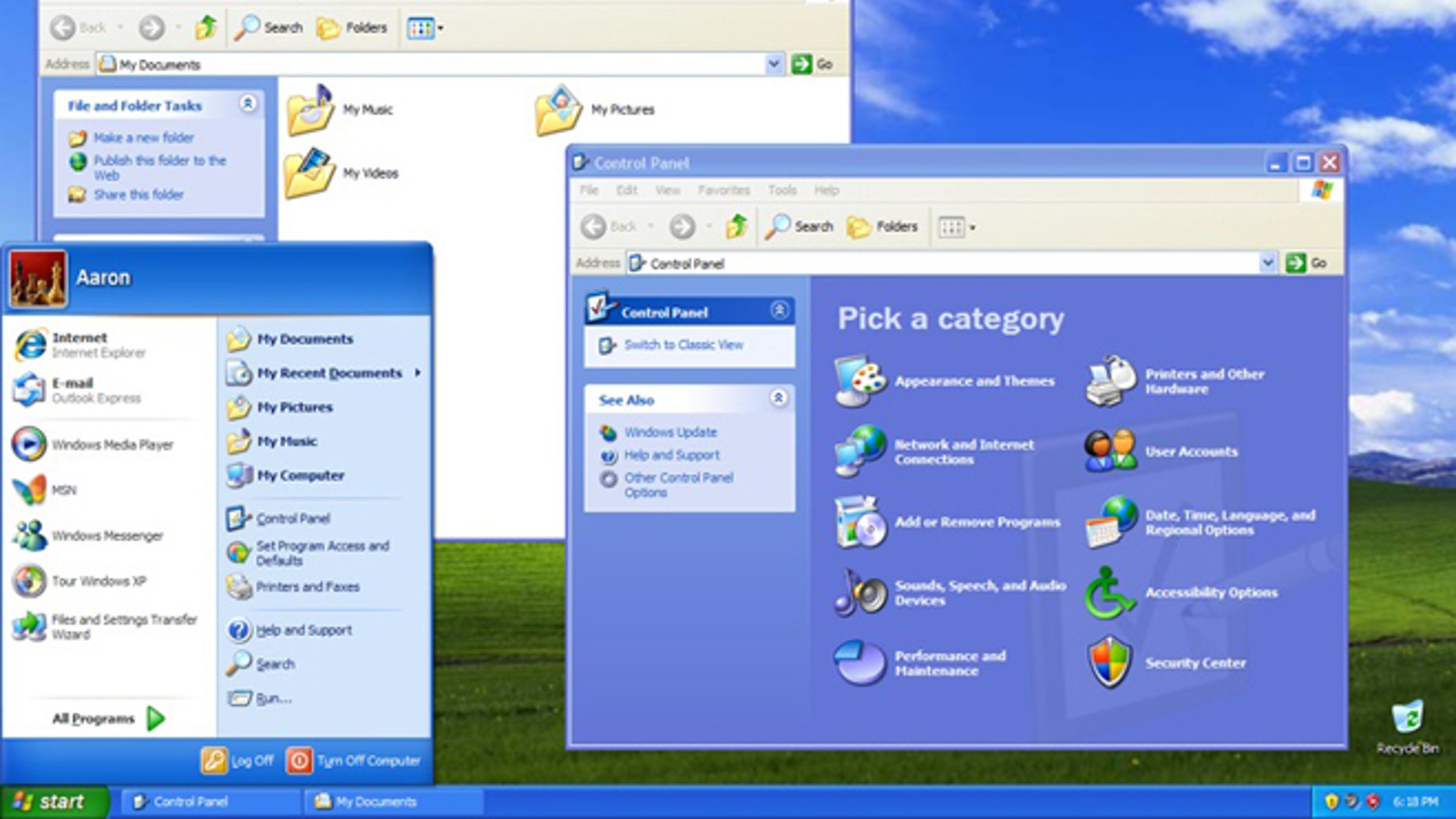 A screenshot of a computer running Windows XP.