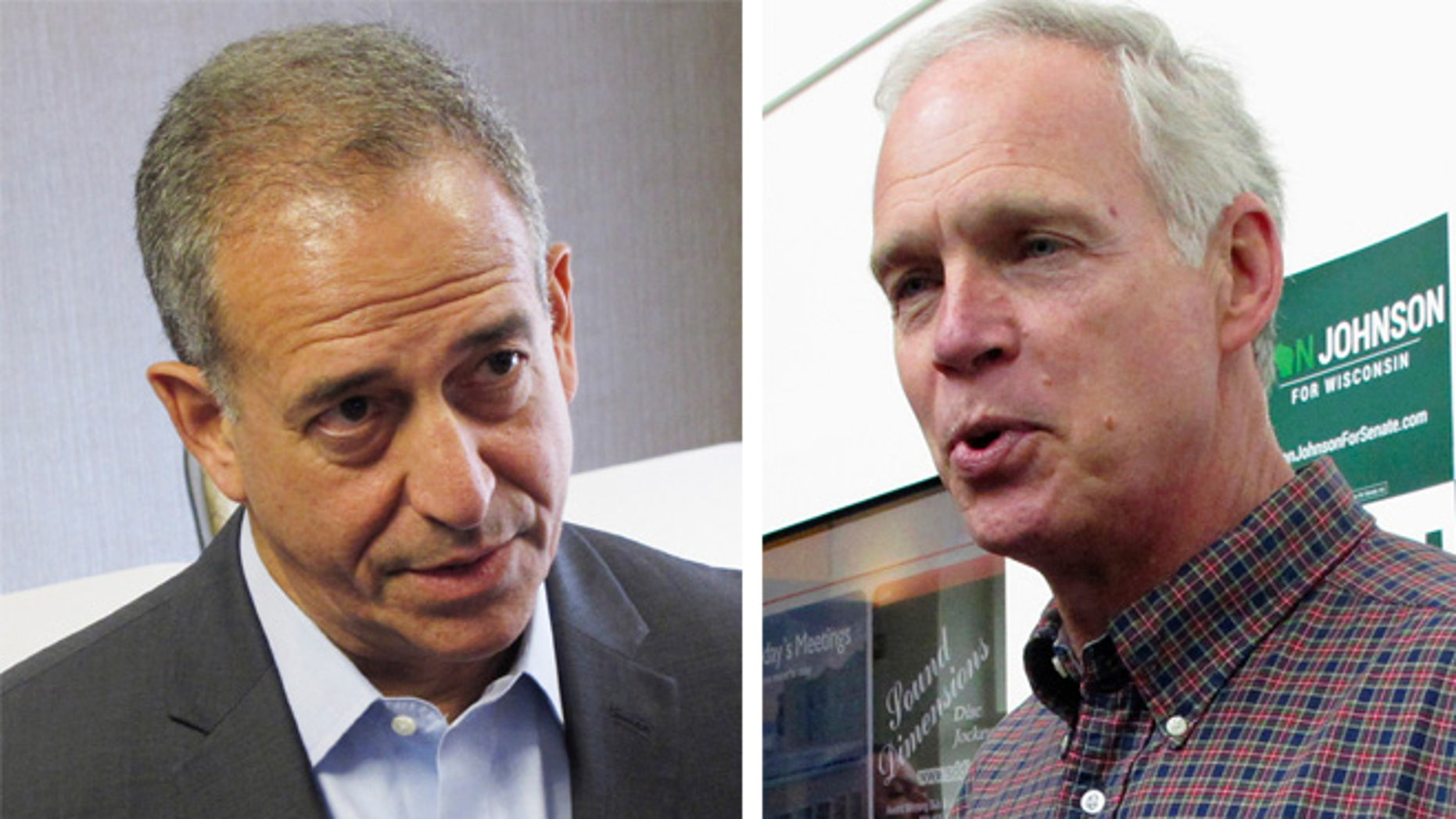Democratic Senate candidate Russ Feingold (left) and U.S. Sen. Ron Johnson, R-Wis. (right) class over immigration policy. (AP Photos)
