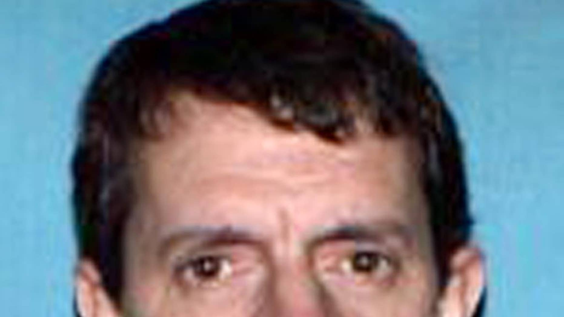 This photo provided by the Missouri State Highway Patrol shows James Barton Horn Jr., 47, of Sedalia, Mo. A Missouri woman told police she fled from a home she shared with Horn who'd been holding her captive since January, sometimes confined in a wooden box, authorities said Friday, May 1, 2015. Police and federal authorities are searching for Horn and expect he will face charges, possibly including felonious restraint, sexual assault and assault. (Missouri State Highway Patrol via AP)
