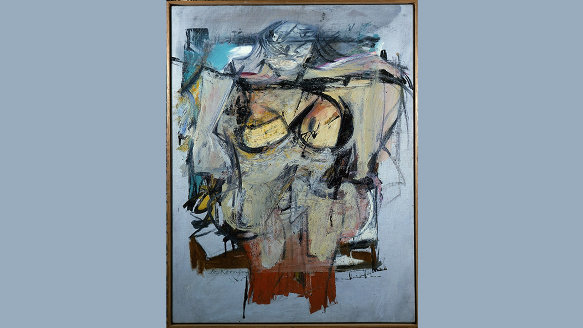 """Woman-Ochre"" by Willem de Kooning."