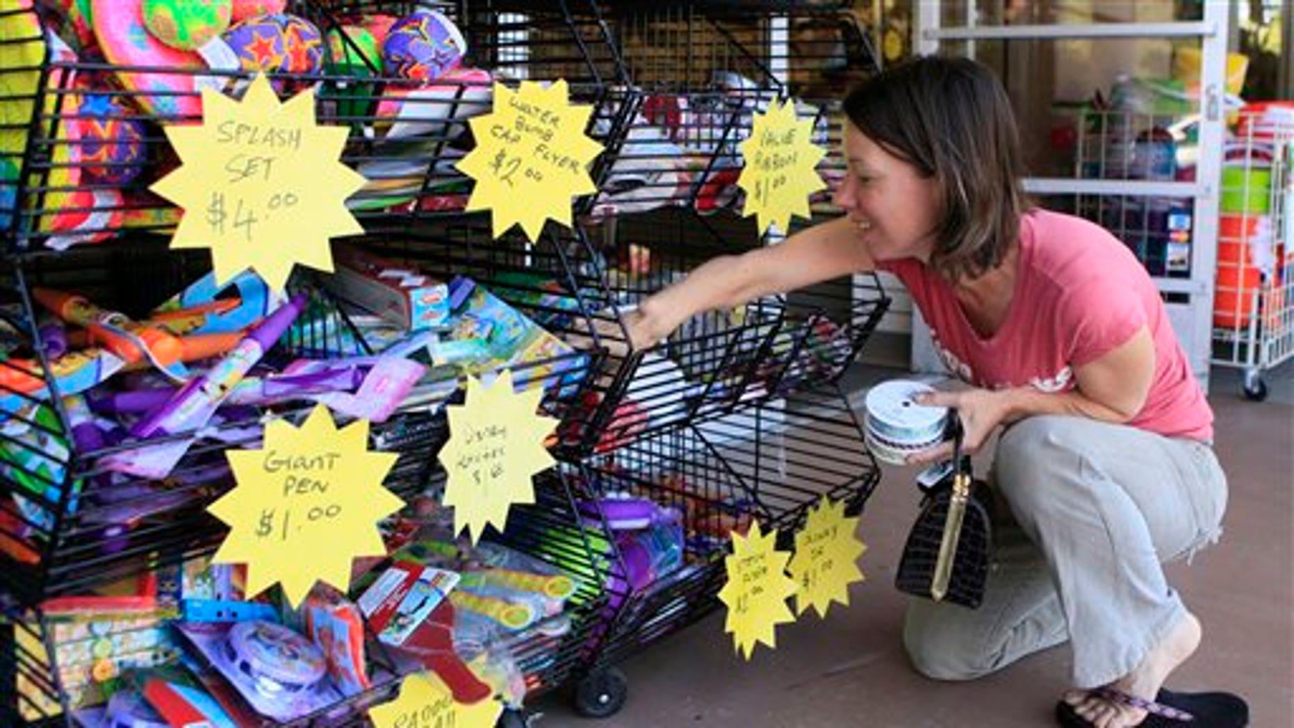 May 11: Shopper at the Michaels store in Westridge Village shopping mall in Santa Clarita, California.