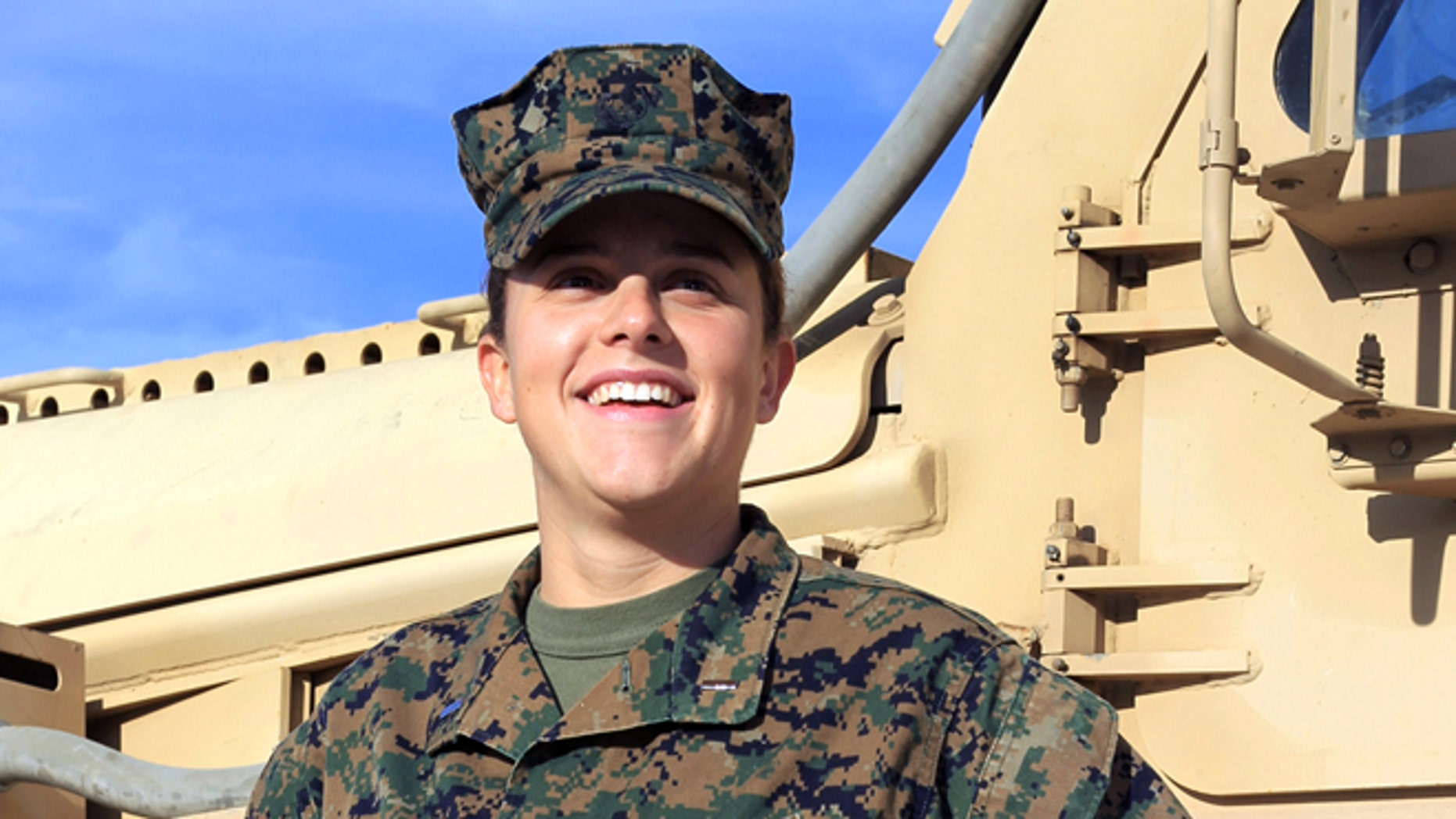 FILE: Nov. 29, 2012:  Lt. Brandy Soublet on the Marine base 29 Palms in Southern California. Image provided by the United States Marine Corps.