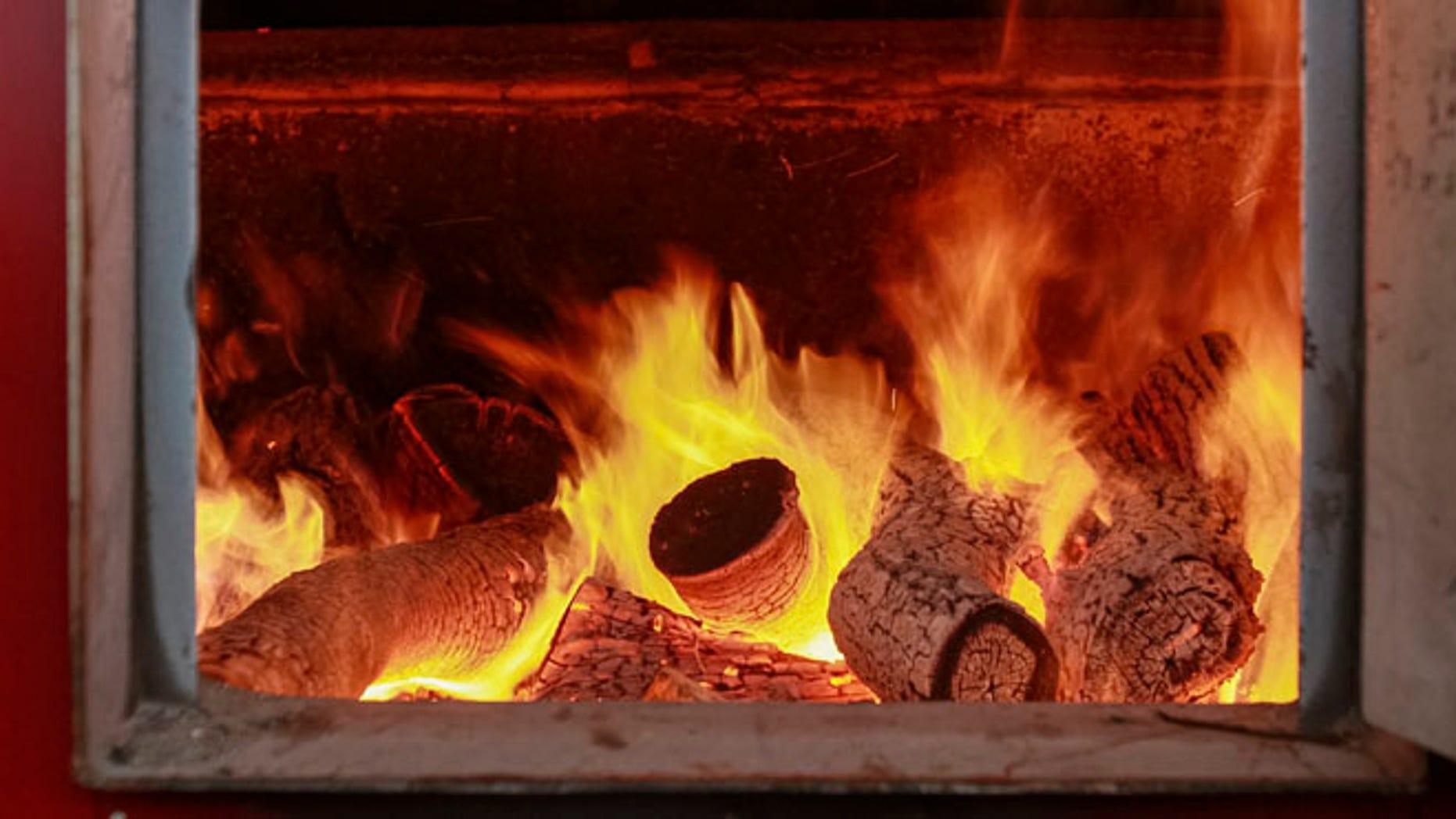 Wood burning stove, Nov. 18, 2013.