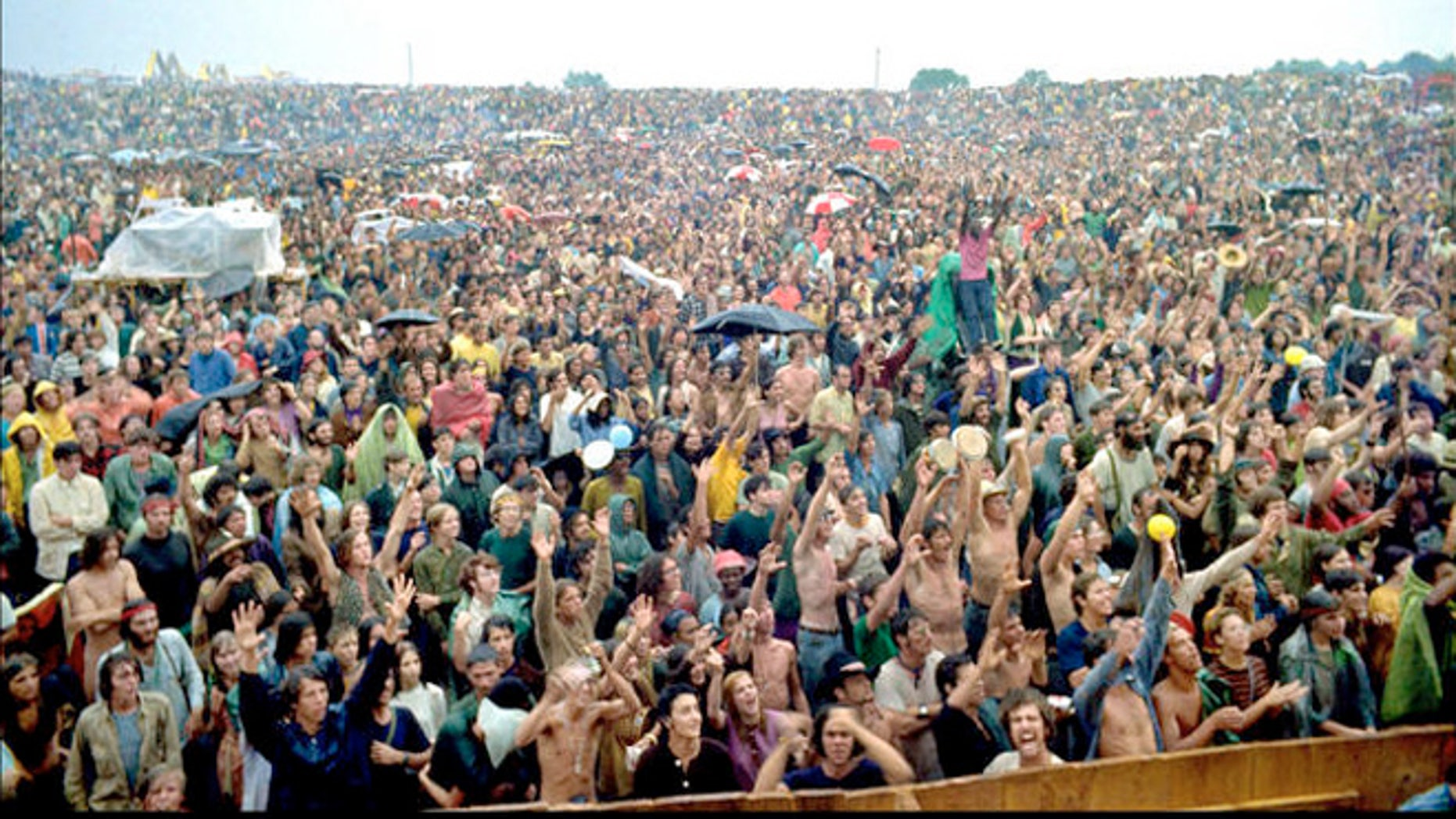 Elliott Landy's photograph of the crowd at the original Woodstock festival in August 1969. (AP/PRNewsFoto)