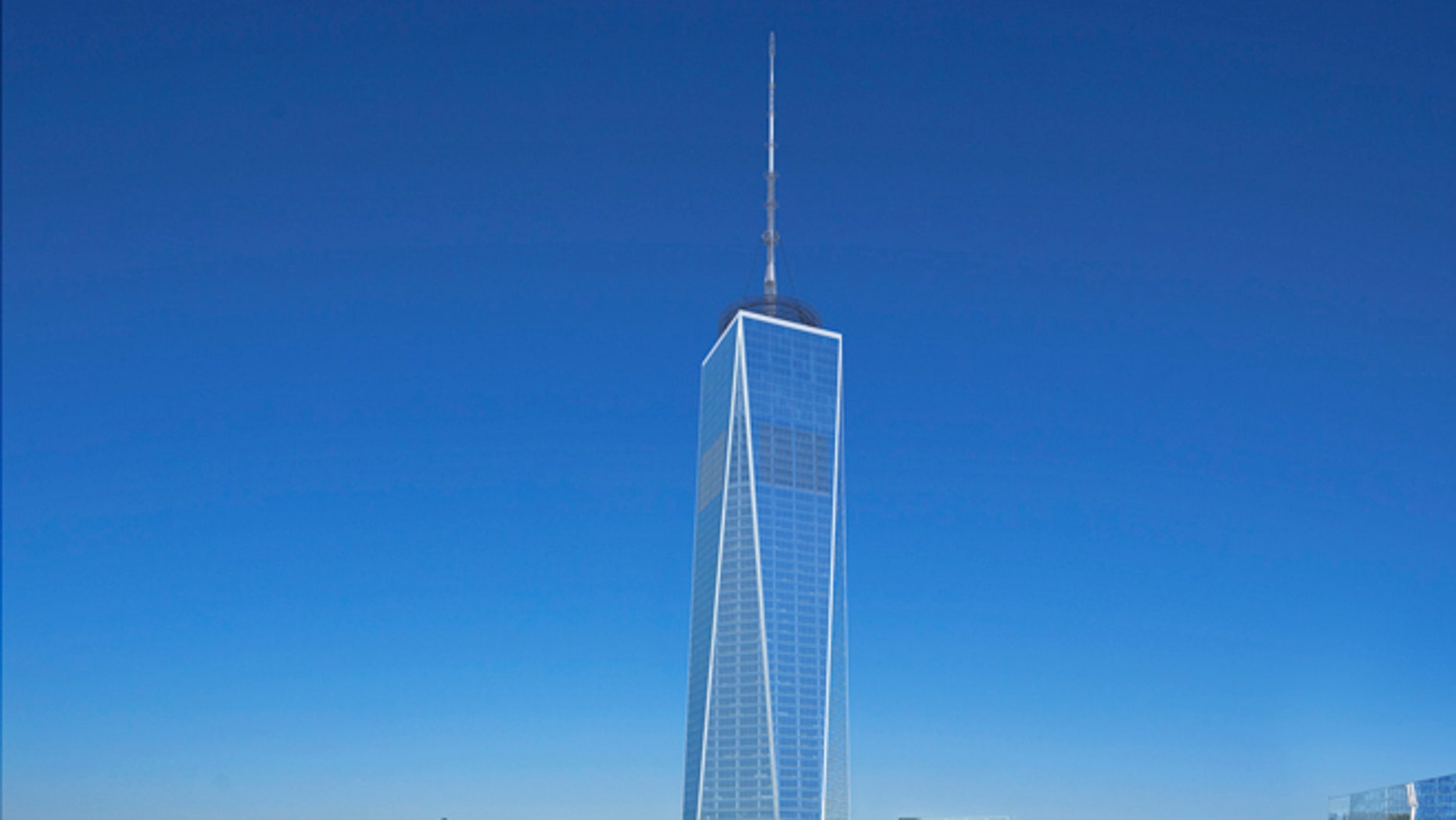 Aug. 7, 2012: This computer generated updated artist rendering, incorporating recent design modifications, released by The Port Authority of NY & NJ and The Durst Organization, in New York, shows a daylight view of One World Trade Center,  from the W New York Downtown Hotel.