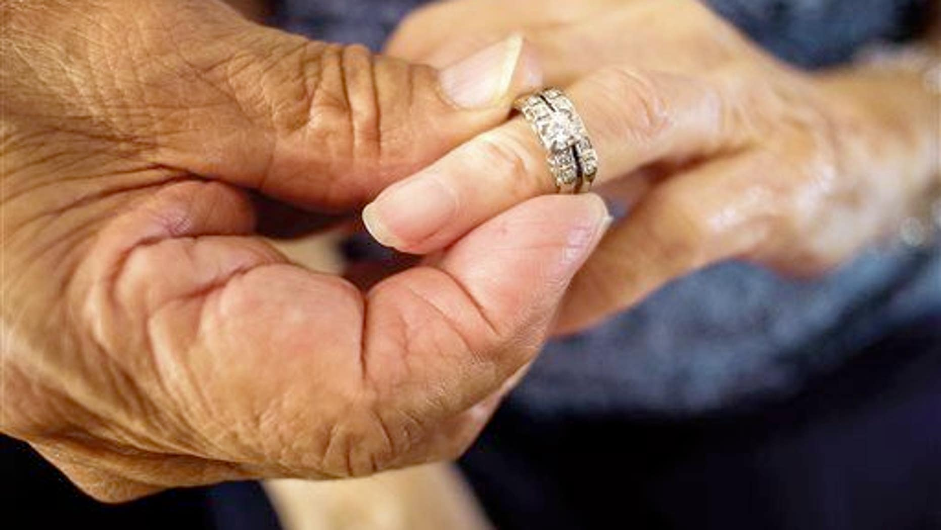Stock photo of a wedding ring.