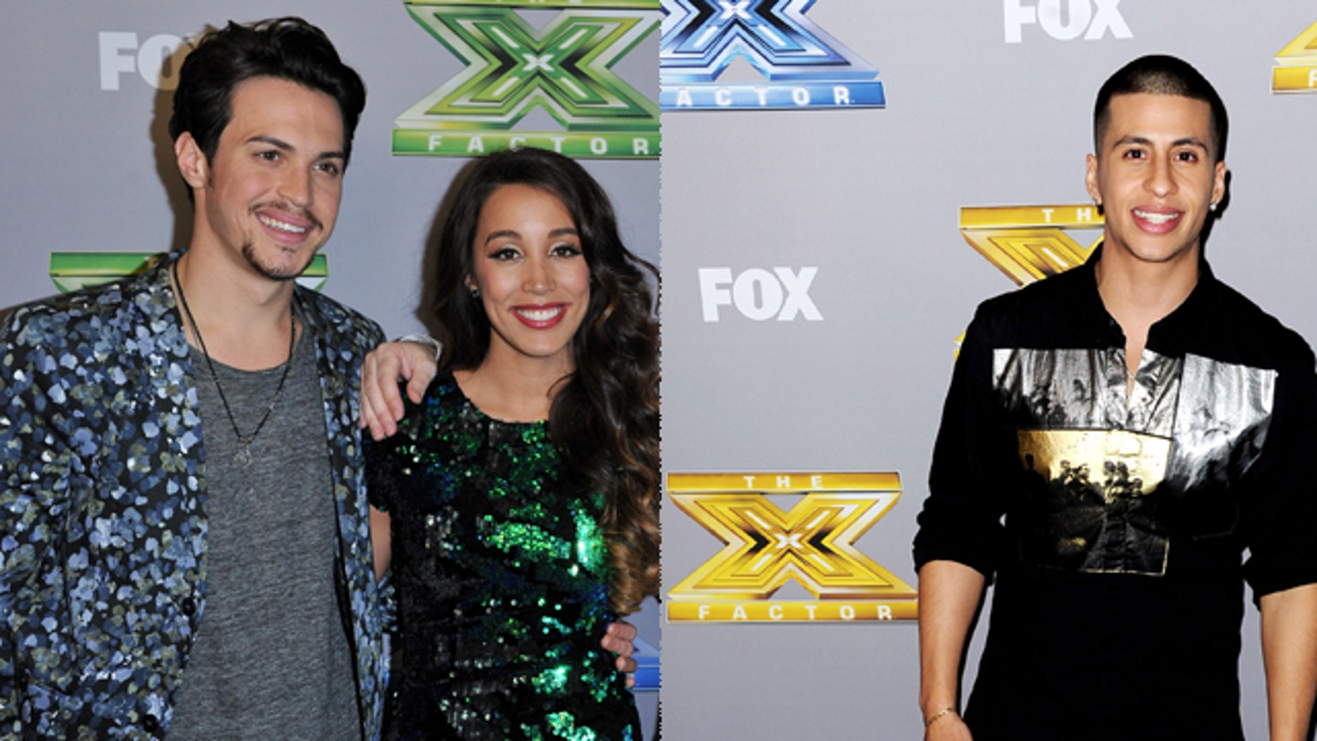 Alex and Sierra (left) won X Factor season 3 and Carlito Olivero (right) came in third. Getty Images