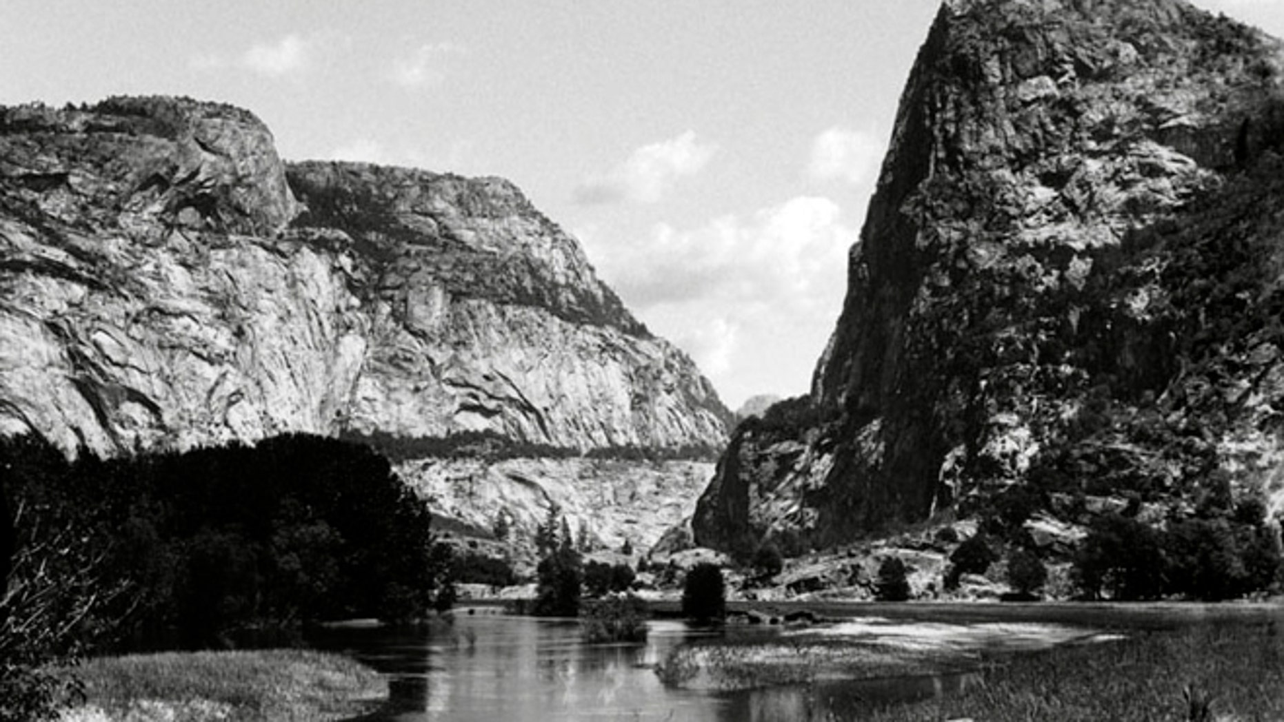 This pre-1913 file photo shows the Hetch Hetchy Valley in Yosemite National Park, Calif.