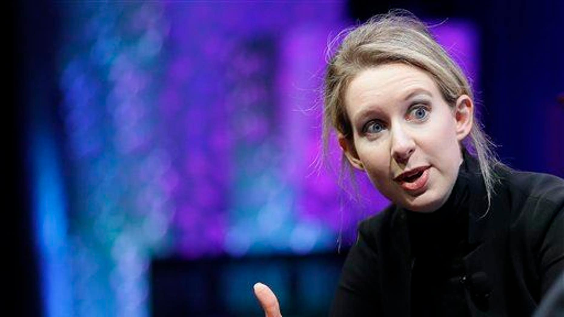 Elizabeth Holmes, founder and CEO of Theranos, can't operate a lab for at least two years, per CMS sanctions.
