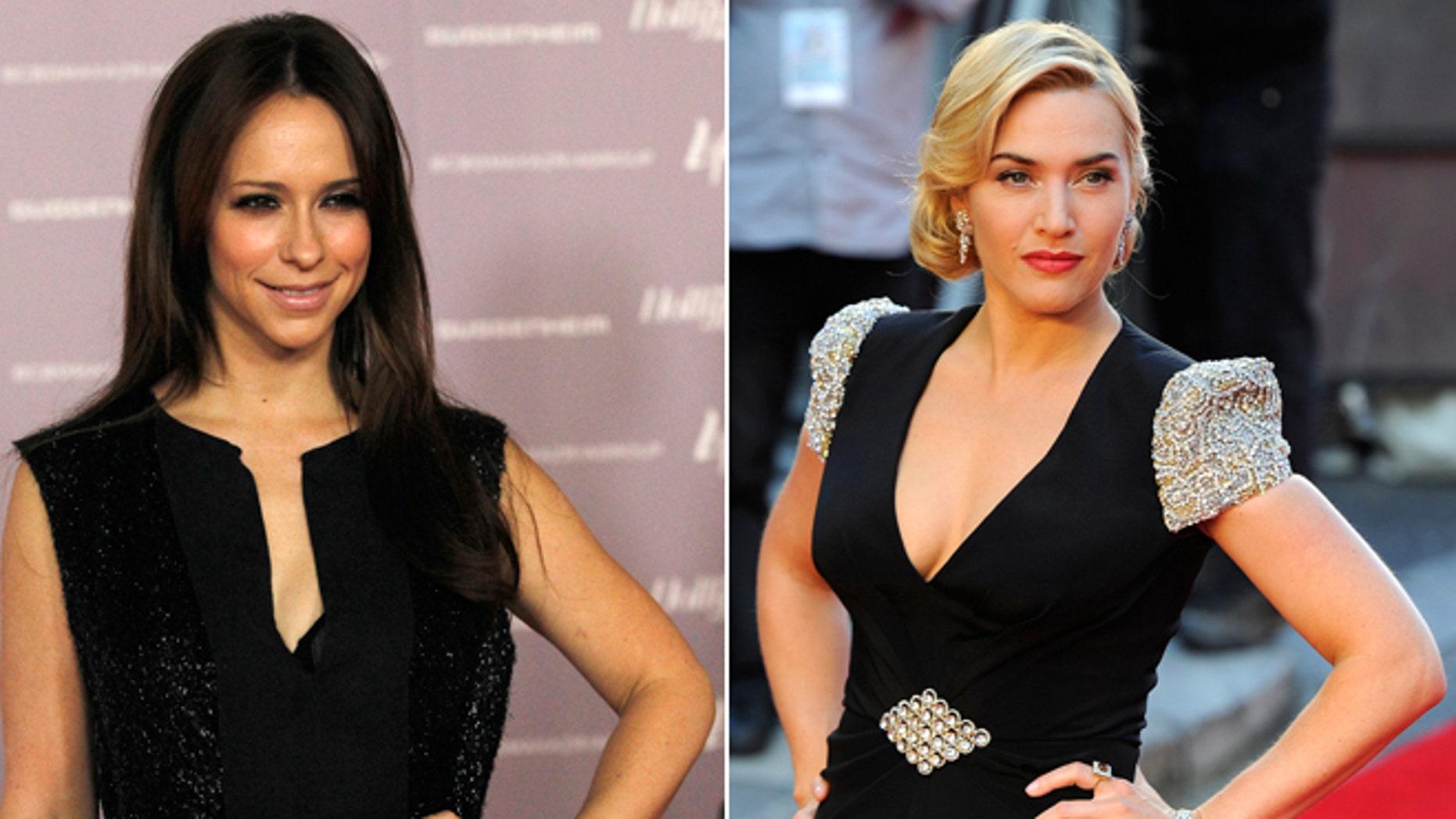 Jennifer Love Hewitt, left; Kate Winslet, right.
