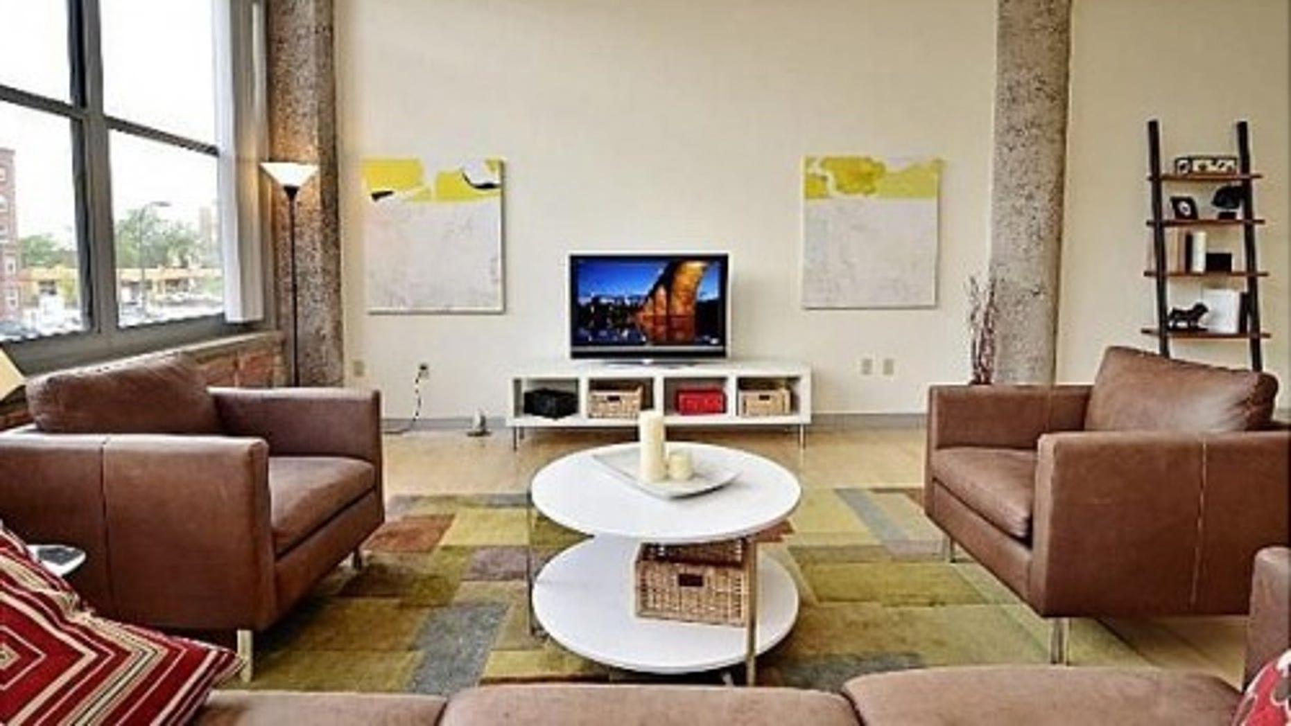 This Minneapolis condo features a modern decor scheme.
