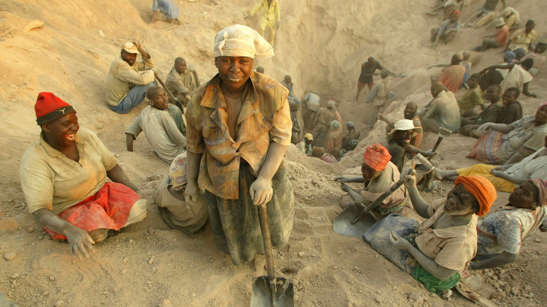 Nov. 1, 2006 FILE photo of miners digging for diamonds in Marange, eastern Zimbabwe.
