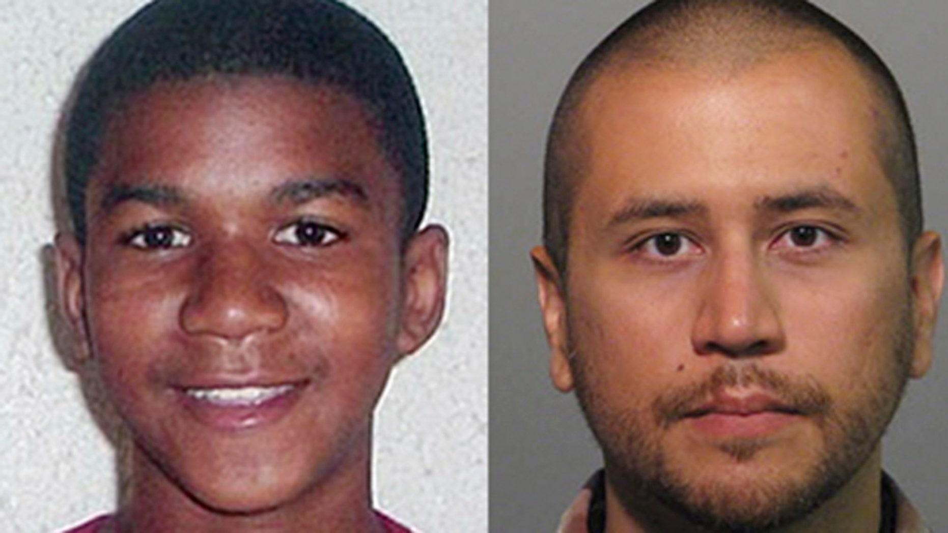 Trayvon Martin and George Zimmerman.
