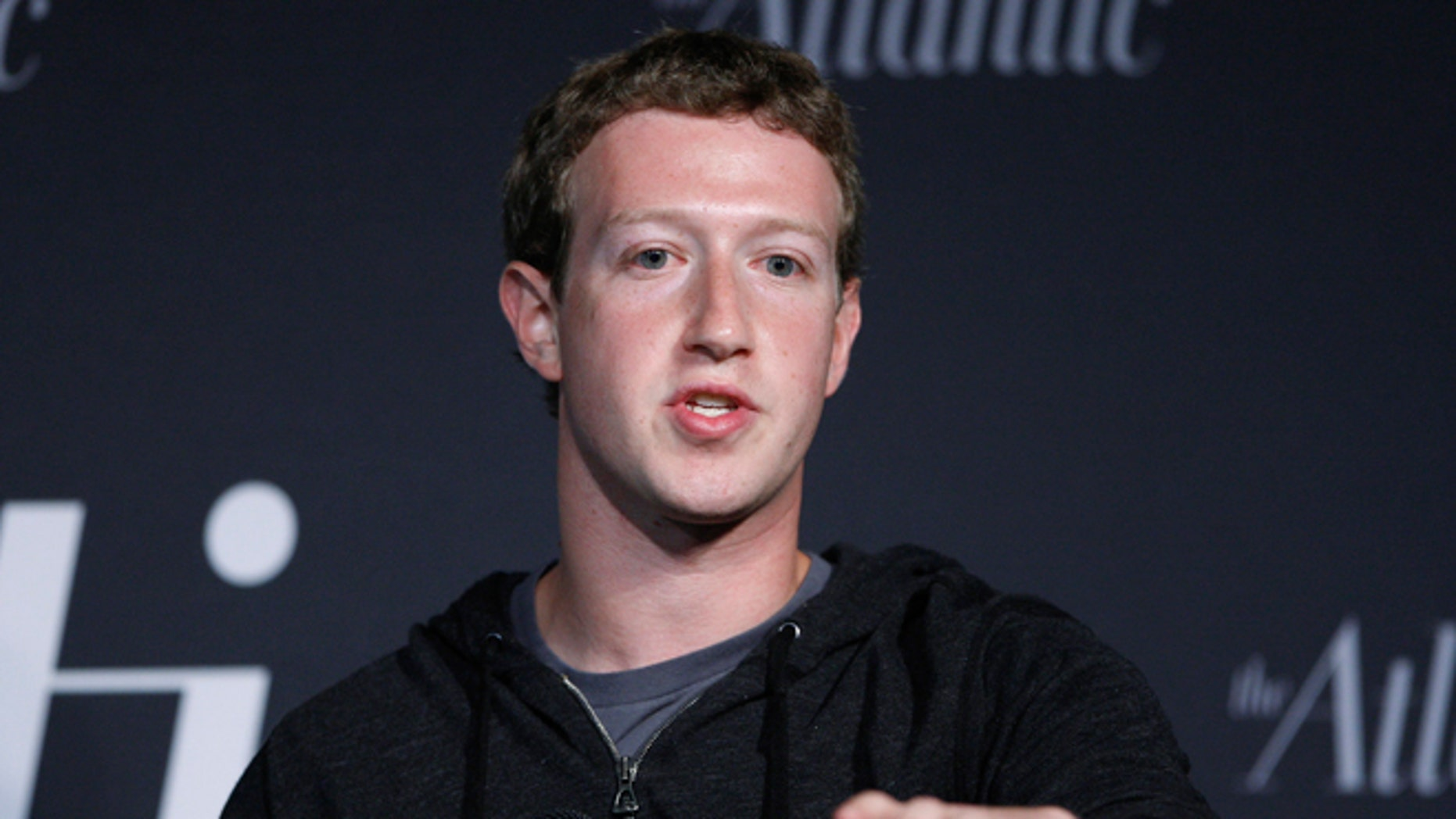 FILE: September 18, 2013: Facebook CEO Mark Zuckerberg delivers remarks in an onstage interview for the Atlantic Magazine in Washington, D.C.