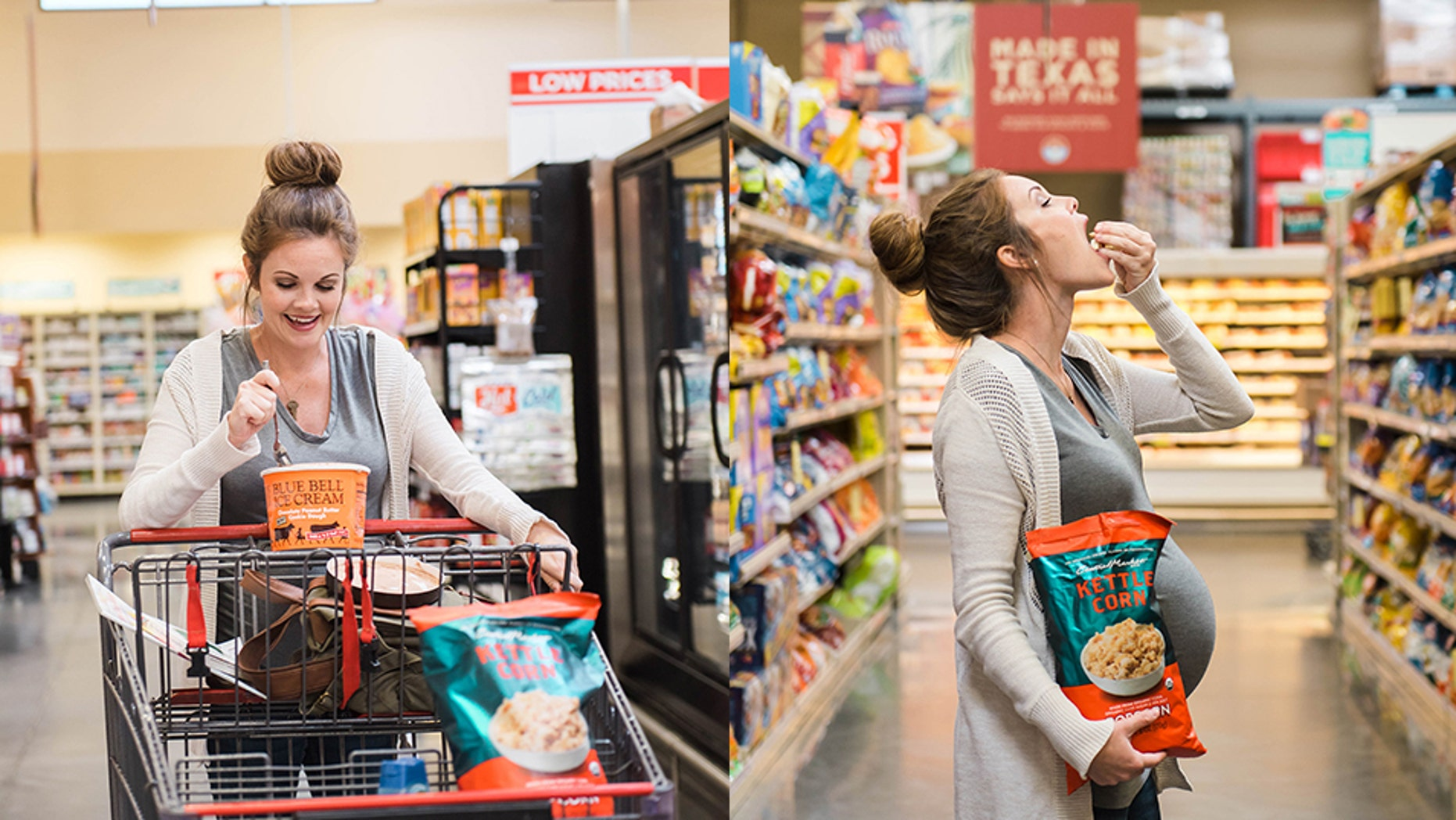 """""""We came up with the grocery store, and that was perfect because it has all of my favorite things,"""" Amy Scott said."""