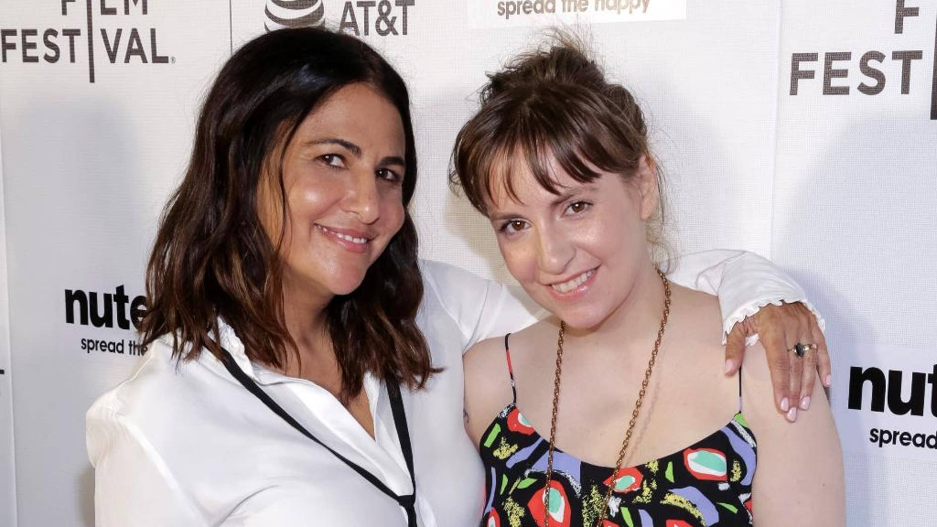 "FILE - In this April 22, 2017, file photo, producers Jenni Konner, left, and Lena Dunham attend a screening of ""Tokyo Project"" during the 2017 Tribeca Film Festival in New York. Now that HBO's ""Girls"" has wrapped its six-year run, the women behind the series are focusing on their other female-centered project: turning their biweekly digital newsletter, Lenny, into a real-life experience. Dunham and Konner announced a six-city tour Tuesday, April 25 that will bring LennyLetter.com to life as a variety show. (Photo by Brent N. Clarke/Invision/AP, File)"