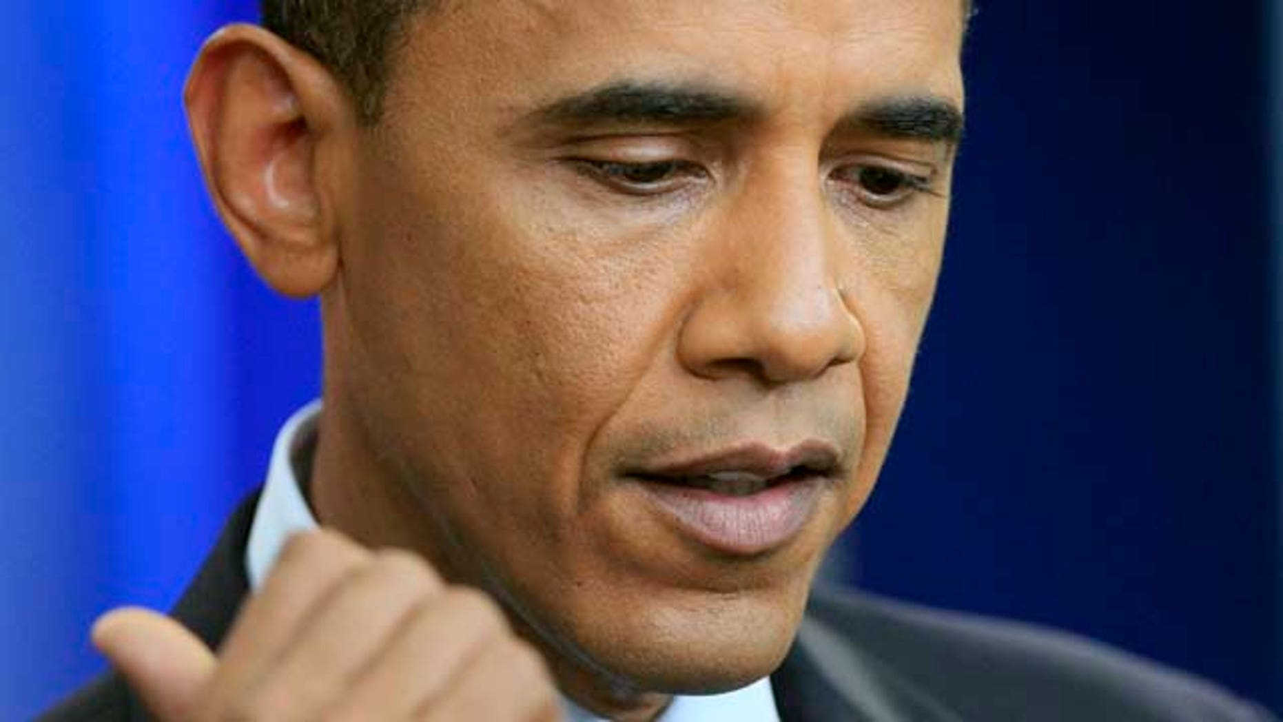 President Barack Obama makes a statement in the Brady Briefing Room at the White House in Washington, Friday, July 22, 2011.  (AP Photo/Manuel Balce Ceneta)