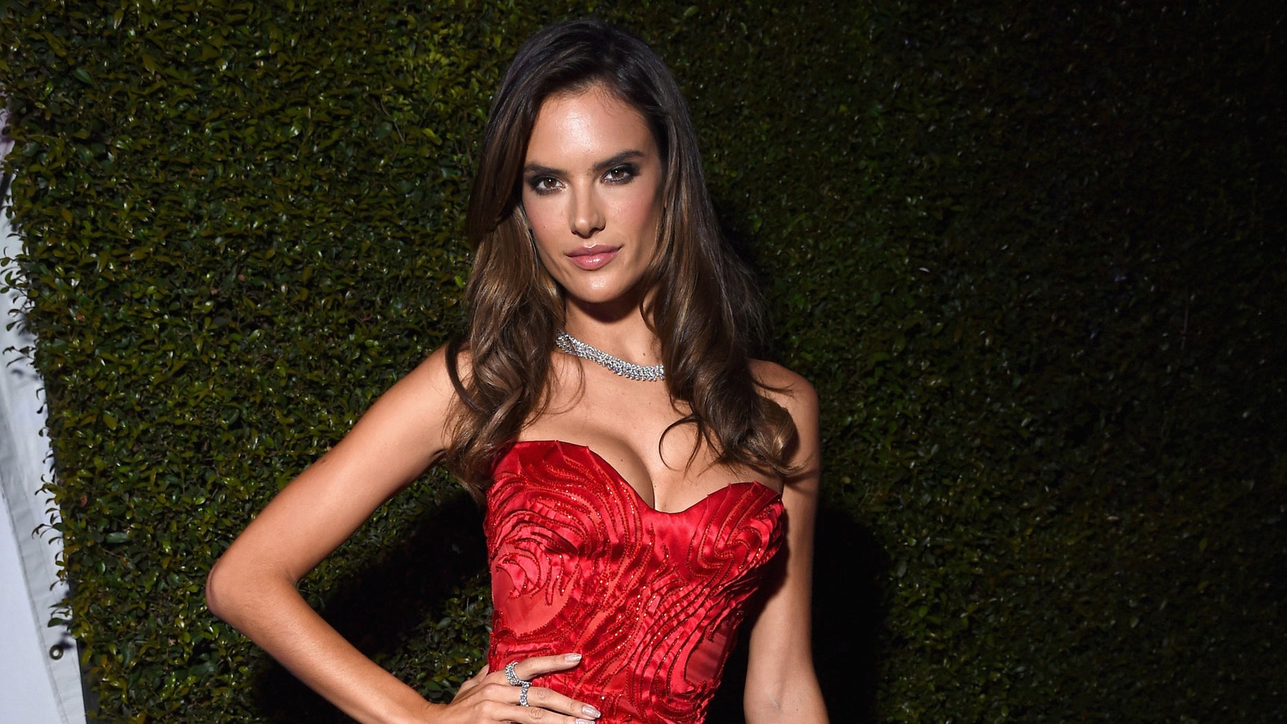 LOS ANGELES, CA - FEBRUARY 22: Model Alessandra Ambrosio attends the 23rd Annual Elton John AIDS Foundation Academy Awards Viewing Party on February 22, 2015 in Los Angeles, California.  (Photo by Dimitrios Kambouris/Getty Images  for EJAF)