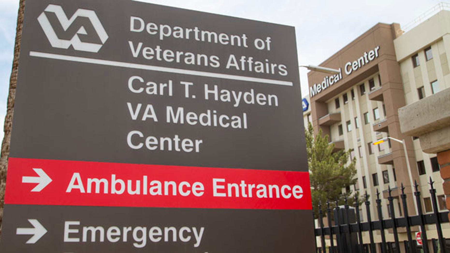 The Carl T. Hayden VA Medical Center in Phoenix is seen Wednesday May 28, 2014.