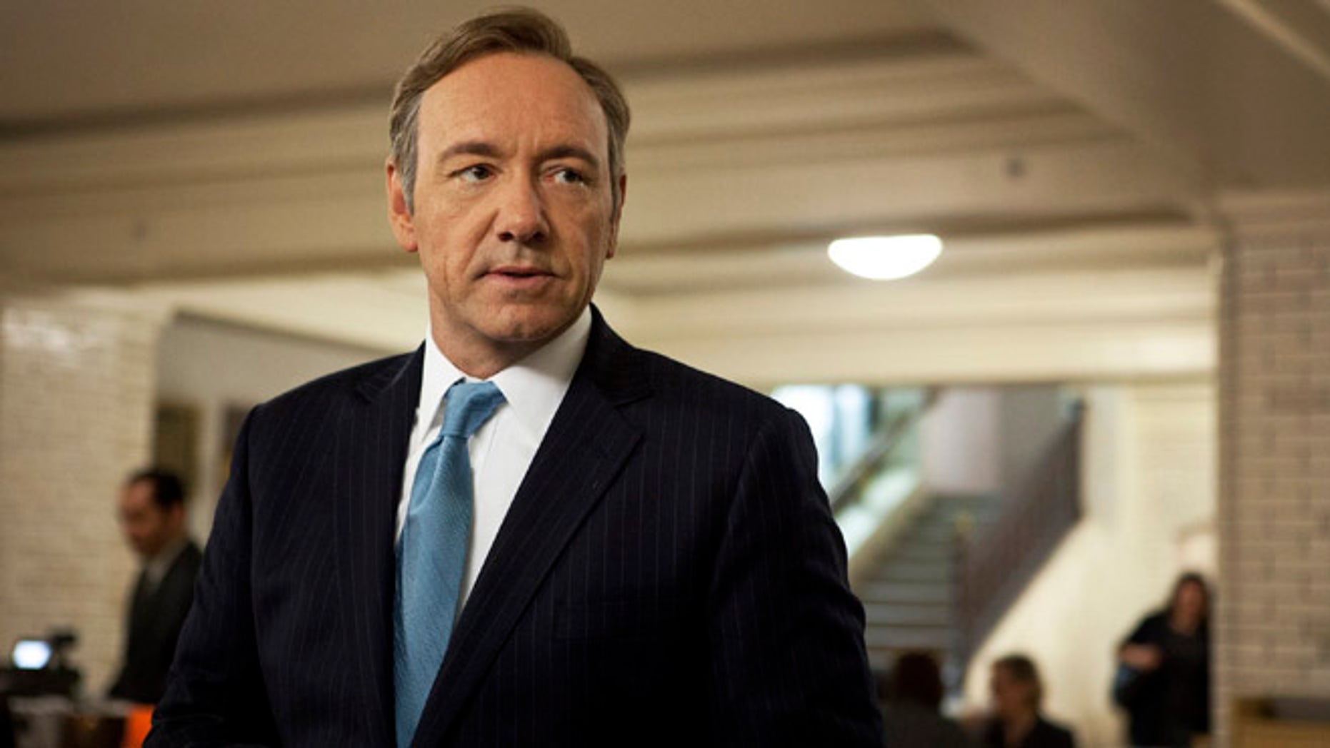 Kevin Spacey as U.S. Congressman Frank Underwood in a scene from the Netflix original series 'House of Cards.'