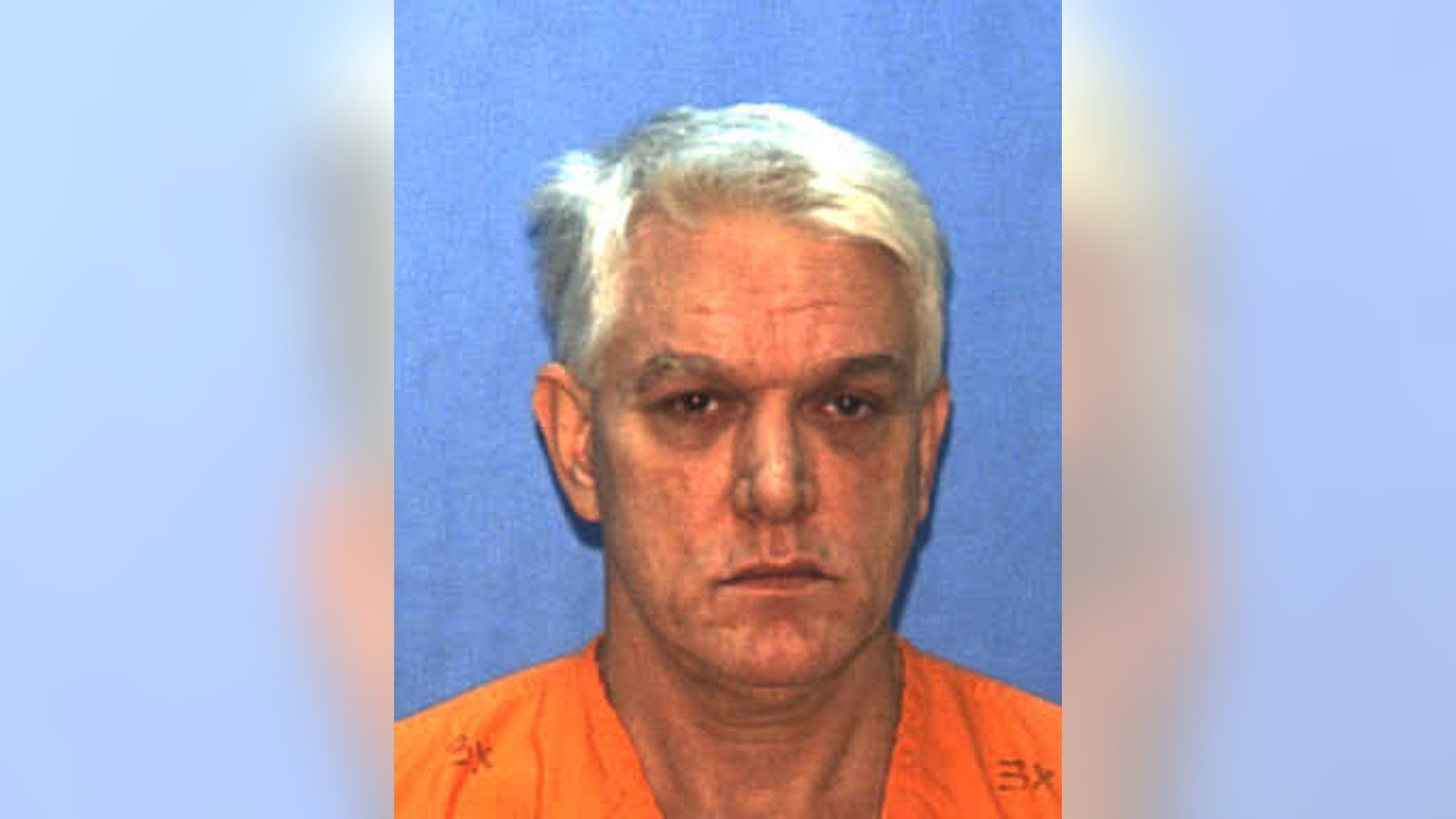 An undated photo provided by the Florida Department of Corrections shows death row inmate Elmer Carroll. Carroll is scheduled to be executed Wednesday May 28, 2013, for the rape and murder of a 10-year-old girl in 1990. Carroll murdered Christine McGowan in her Apopka, Fla., home in 1990. (AP Photo/Florida Department of Corrections, HO)