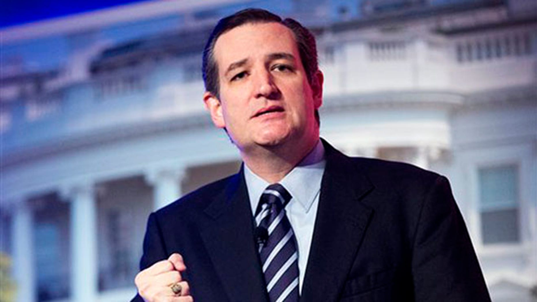 Sen. Ted Cruz, R-Texas, speaks at the International Association of Firefighters (IAFF) Legislative Conference and Presidential Forum in Washington.
