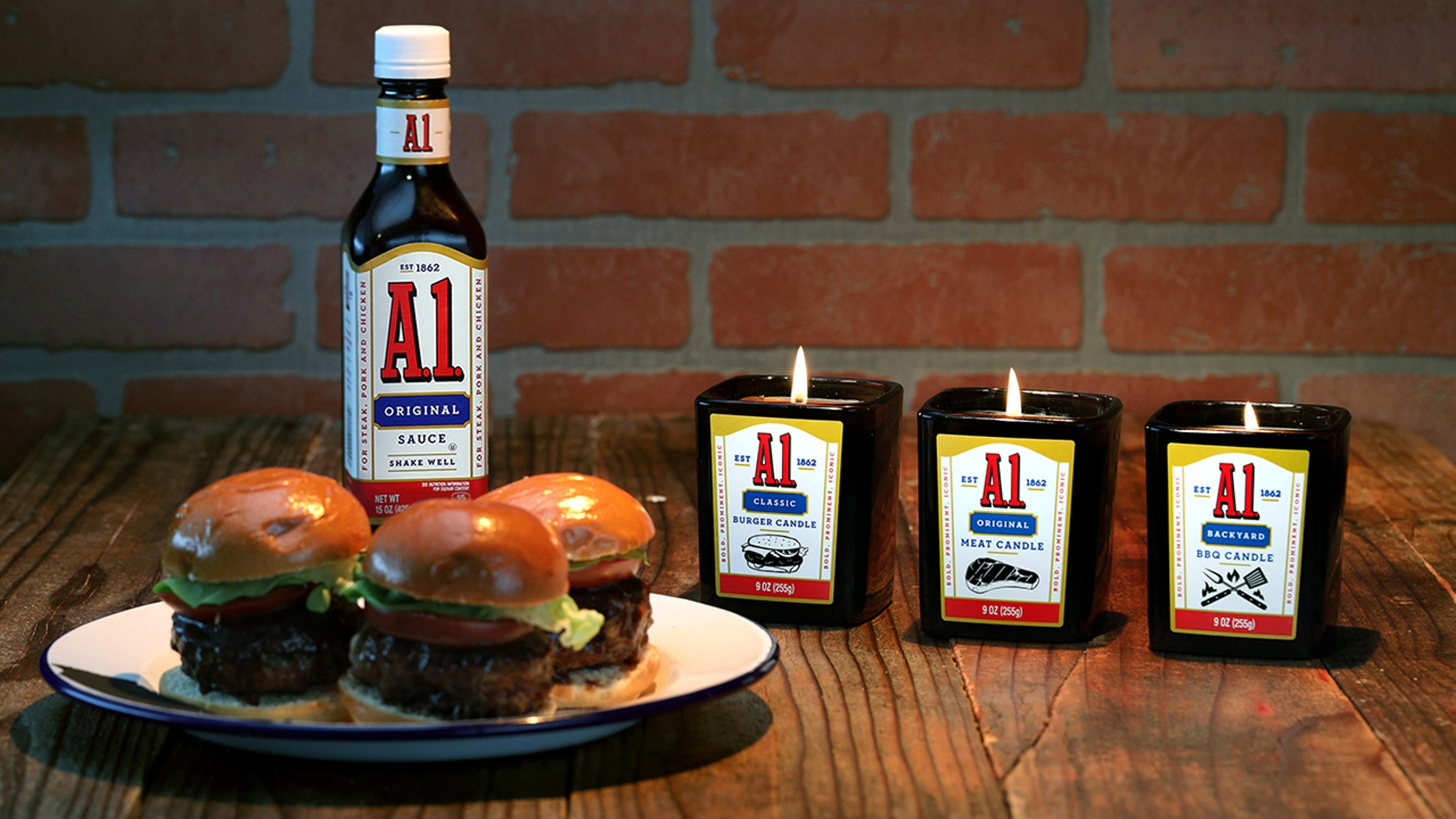 "A.1.'s new ""meat scents"" come in three varieties: Original Meat, Backyard BBQ and Classic Burger."