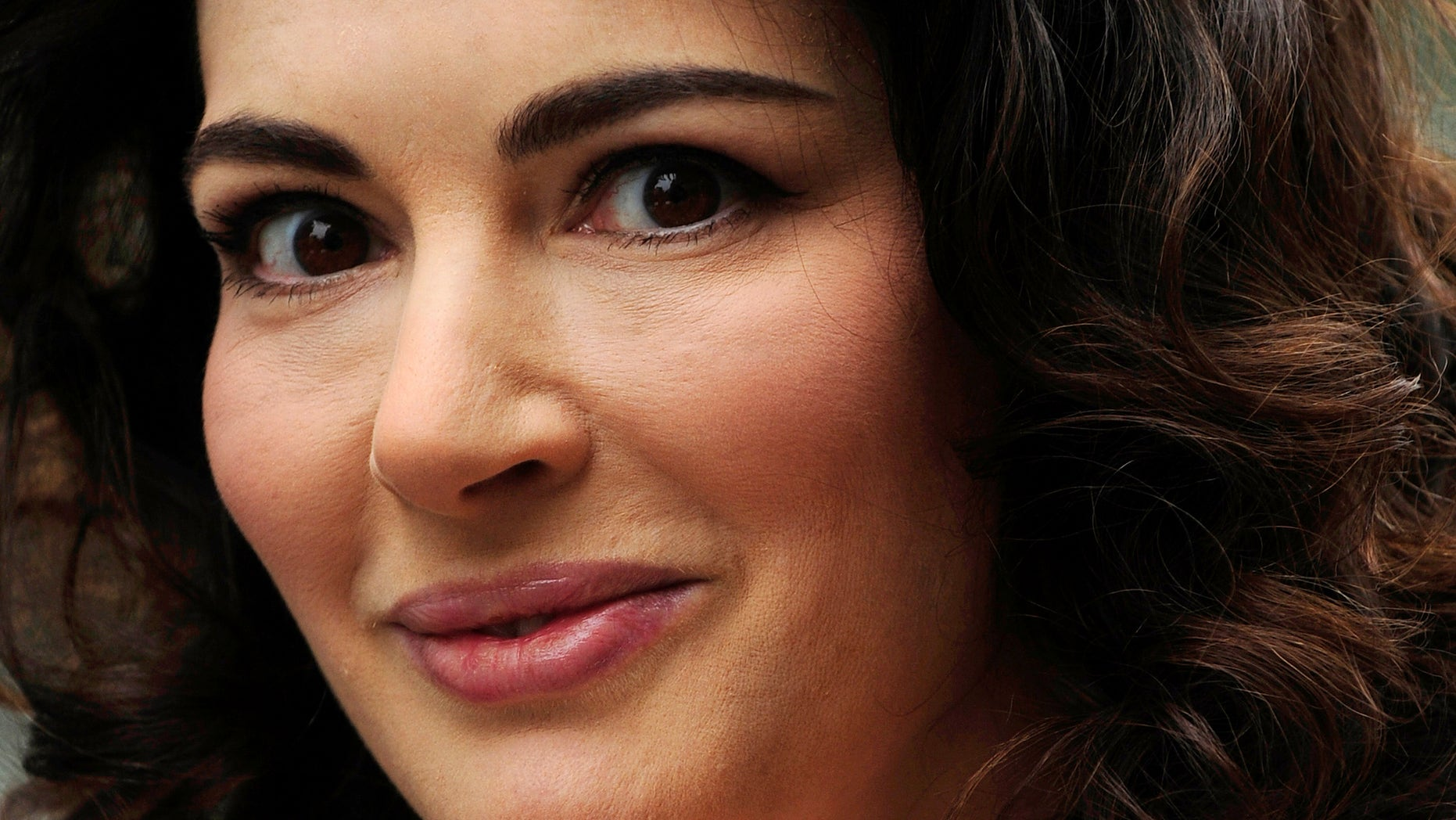 June 17, 2009. British chef and food writer Nigella Lawson arrives for the British premiere of the film Bruno at Leicester Square in central London.