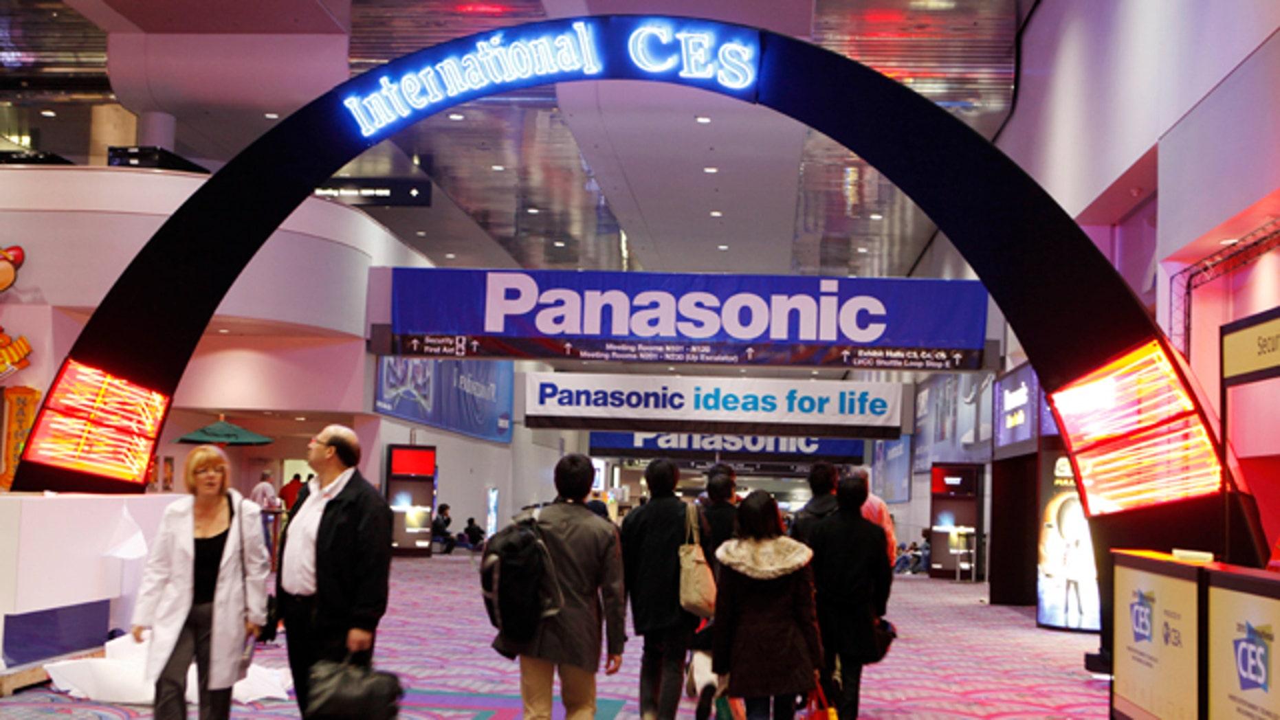 Jan. 4, 2010: People walk inside the International Consumer Electronics Show (CES) in Las Vegas.