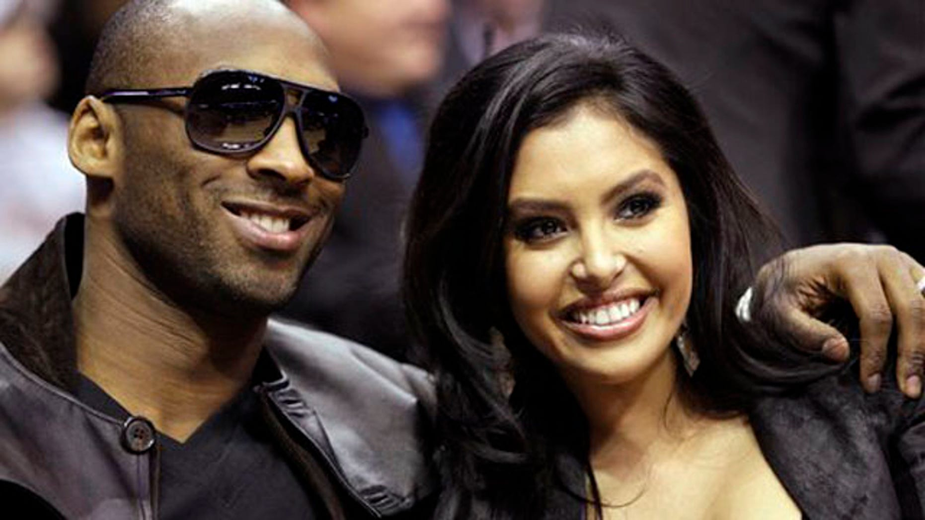 Feb. 13, 2010: Los Angeles Lakers guard Kobe Bryant and his wife, Vanessa, attend the skills competition at the NBA basketball All-Star Saturday Night in Dallas. (AP)