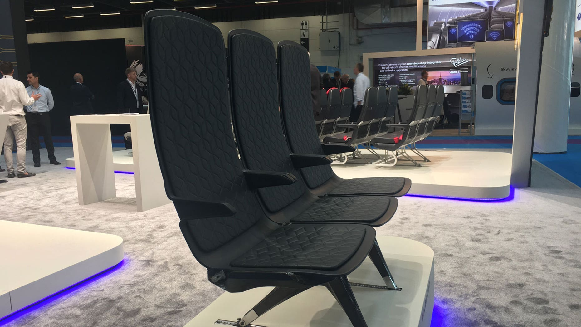 Vision 2030 seats are about half as thick as an aircraft meal tray.