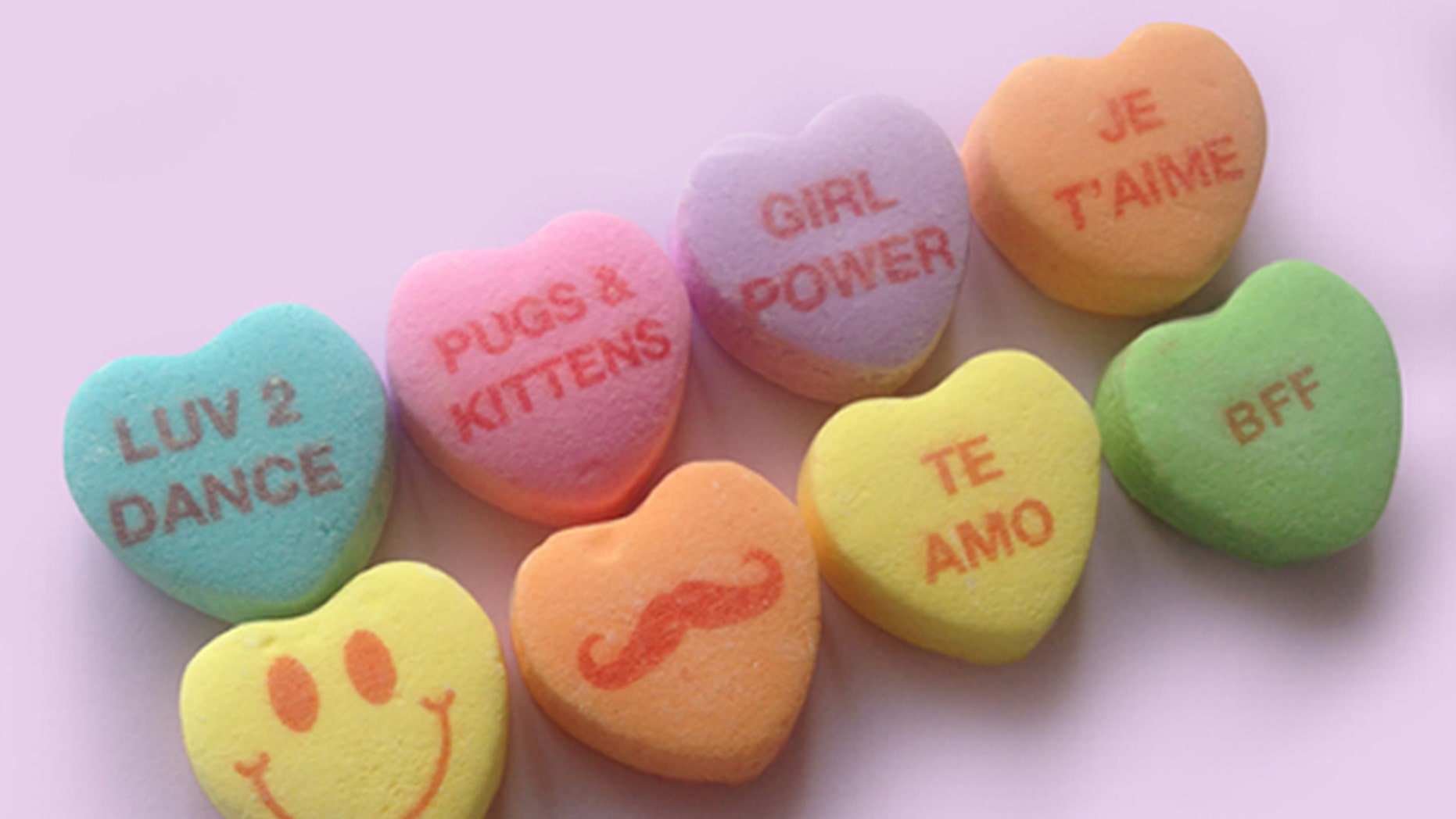 Sweet! Candy hearts maker finds new way to say I love you