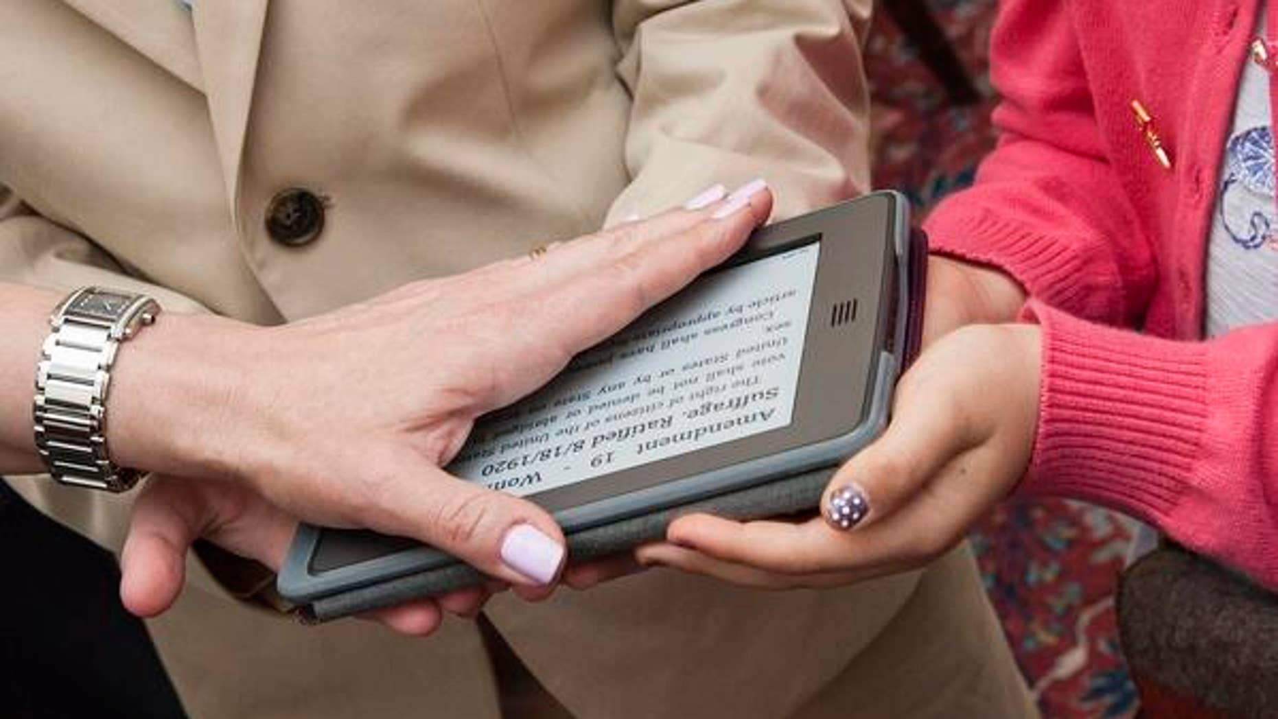 Suzi LeVine became the first U.S. ambassador to take an oath on an e-reader.