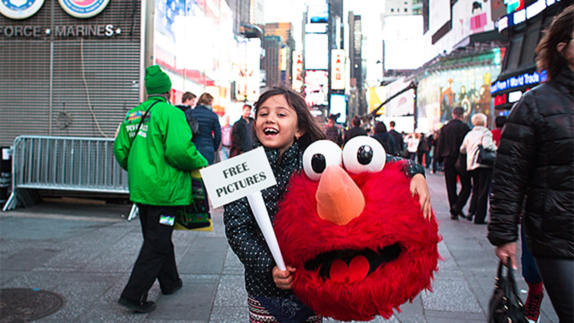 determined 6 year old girl declares war on costumed characters in
