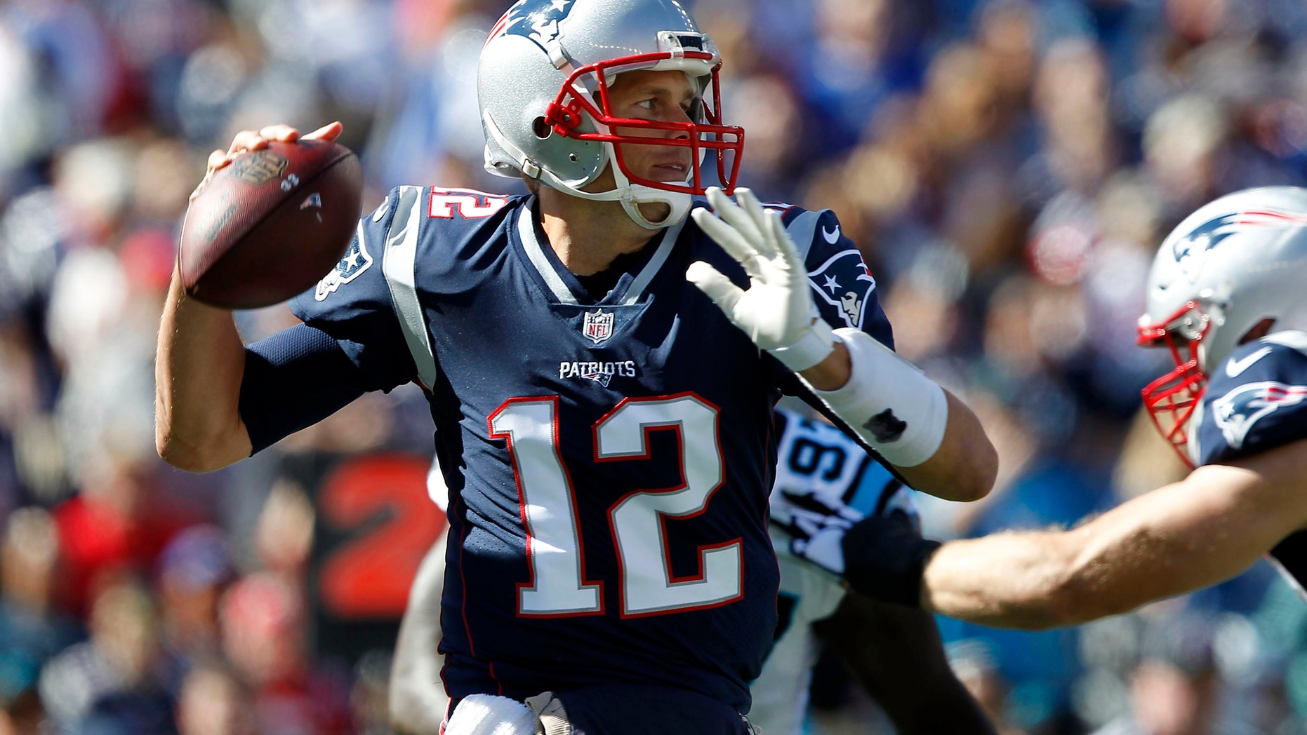 873ceae58 File photo - New England Patriots quarterback Tom Brady passes the ball  during the first quarter