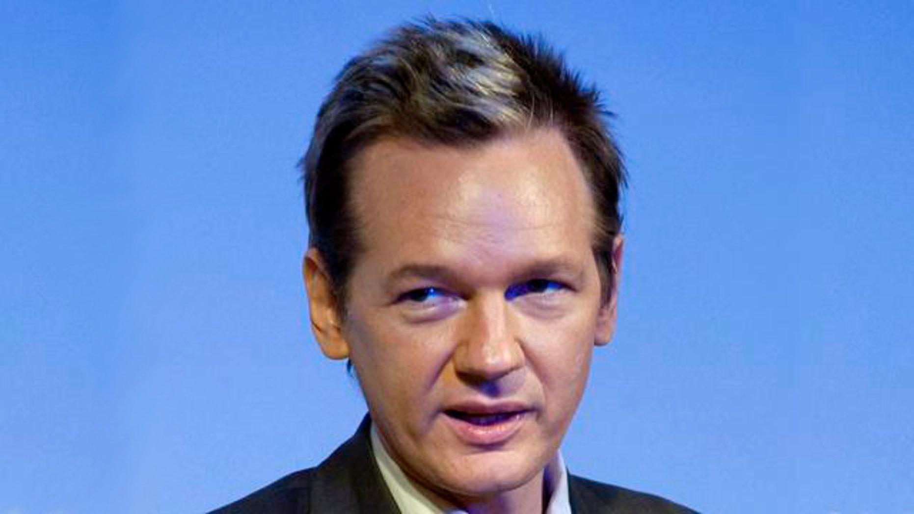 FILE: WikiLeaks founder Julian Assange
