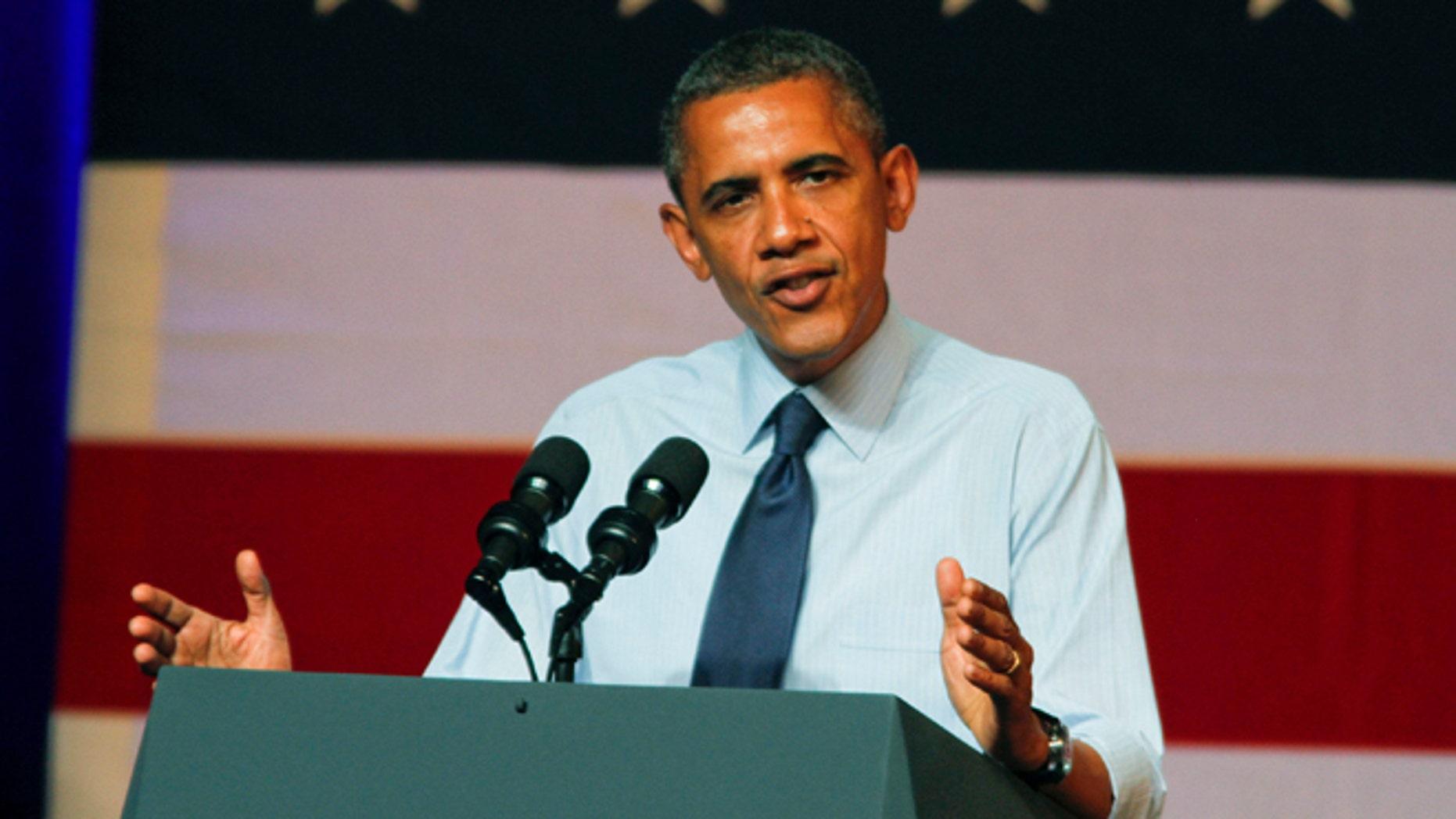 FILE: July 17, 2012: President Obama in Austin, Texas