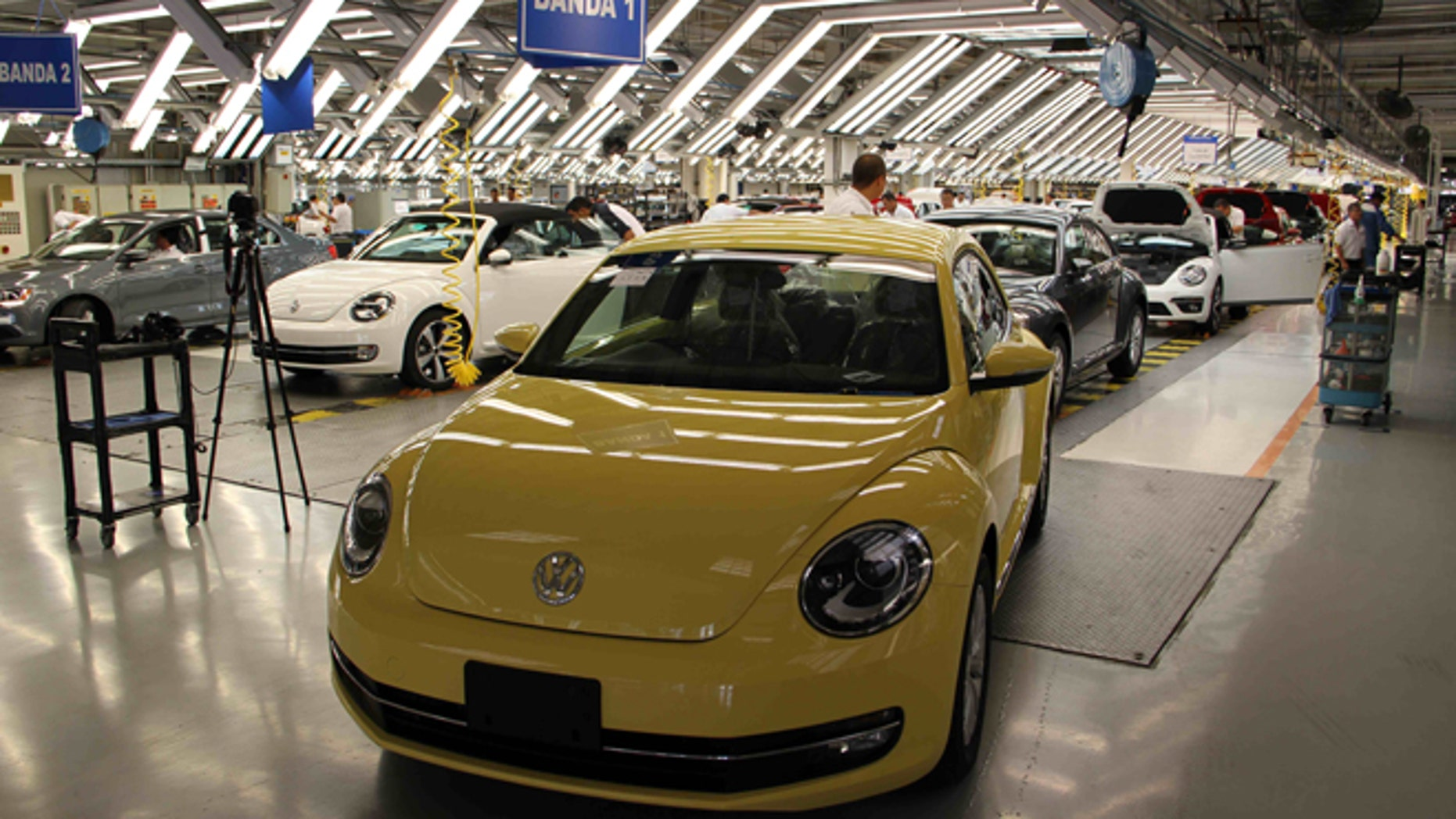 One of the assembly lines at Volkswagen's campus in Puebla, Mexico. (Photo: Nathaniel Parish Flannery/Fox News Latino)
