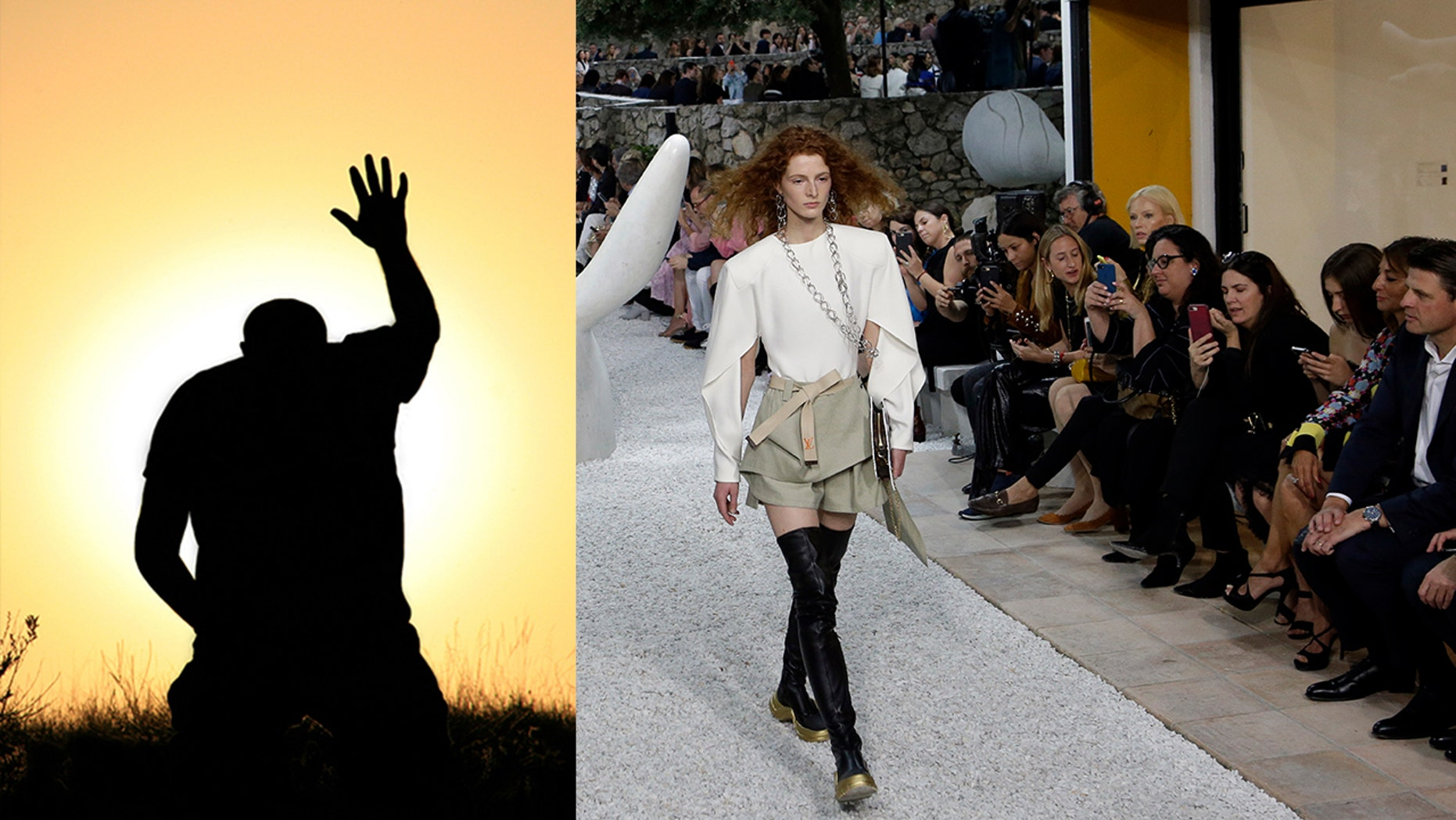 A shaman was allegedly hired to stop any sudden storms ahead of the Louis Vuitton Cruise 2019 Collection presented at the Maeght Foundation in Saint Paul de Vence, southeastern France.