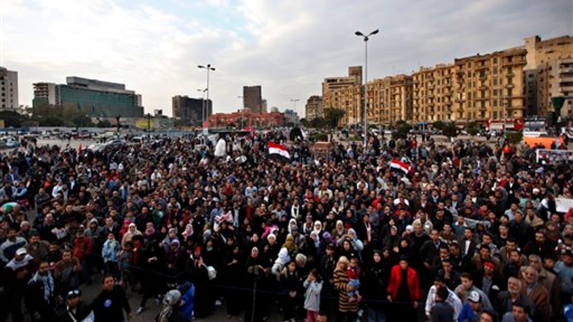 Jan. 20: Protesters chant slogans at a rally honoring those killed in clashes with security forces in Tahrir Square in Cairo nearly a year after the 18-day uprising that ousted President Hosni Mubarak.