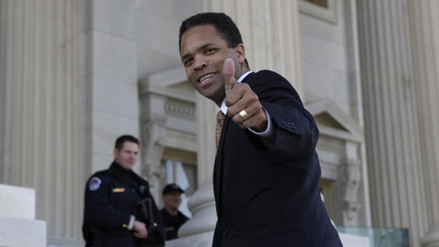 Dec. 2, 2011: Then-Rep. Jesse Jackson, Jr. walks on the U.S. Capitol steps in Washington.