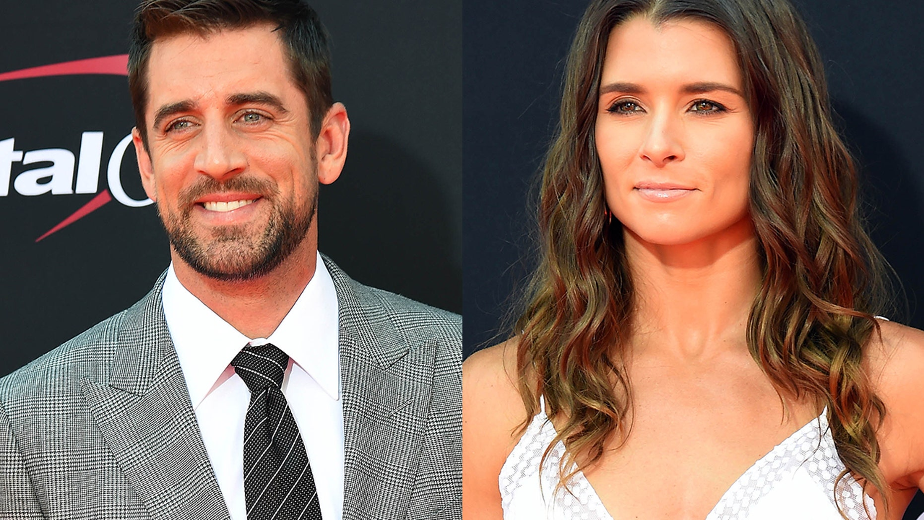 Aaron Roders (left) and Danica Patrick) are reportedly dating.