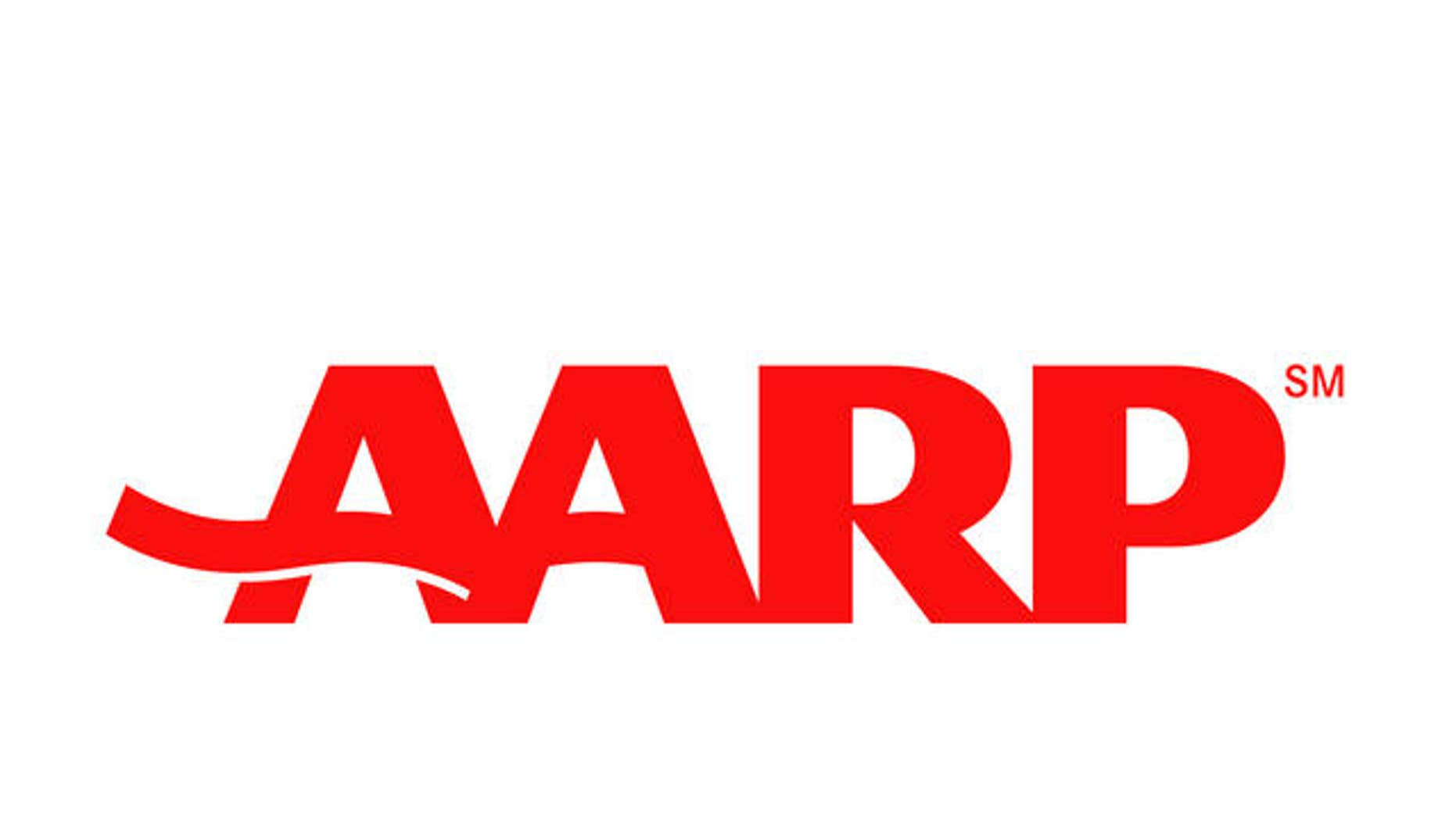 AARP logo, graphic element on white. (AP)