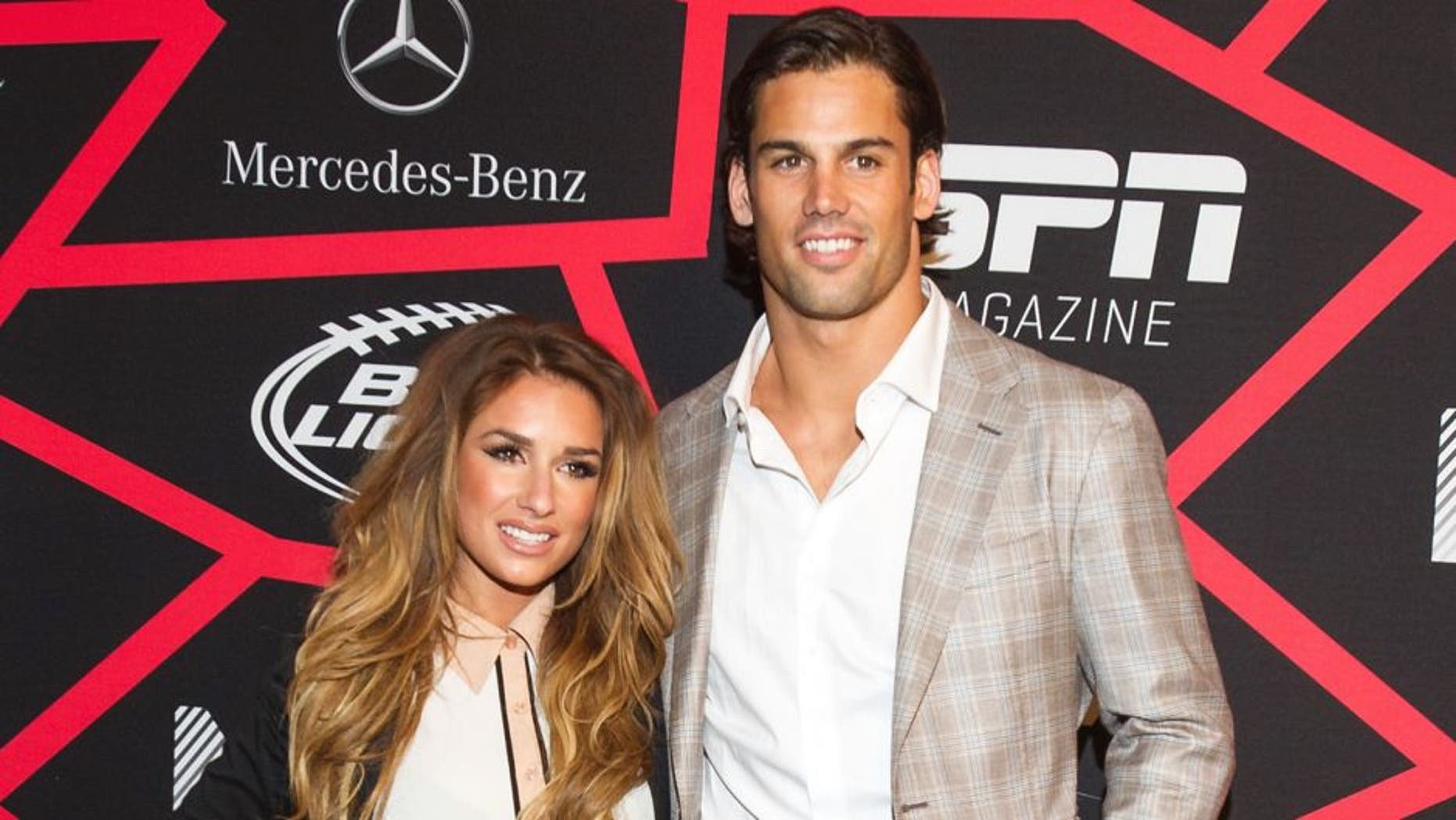 """NEW ORLEANS, LA - FEBRUARY 01: Jessie James and Eric Decker attends ESPN The Magazine's """"Next"""" Event at Tad Gormley Stadium on February 1, 2013 in New Orleans, Louisiana. (Photo by Michael Chang/FilmMagic)"""