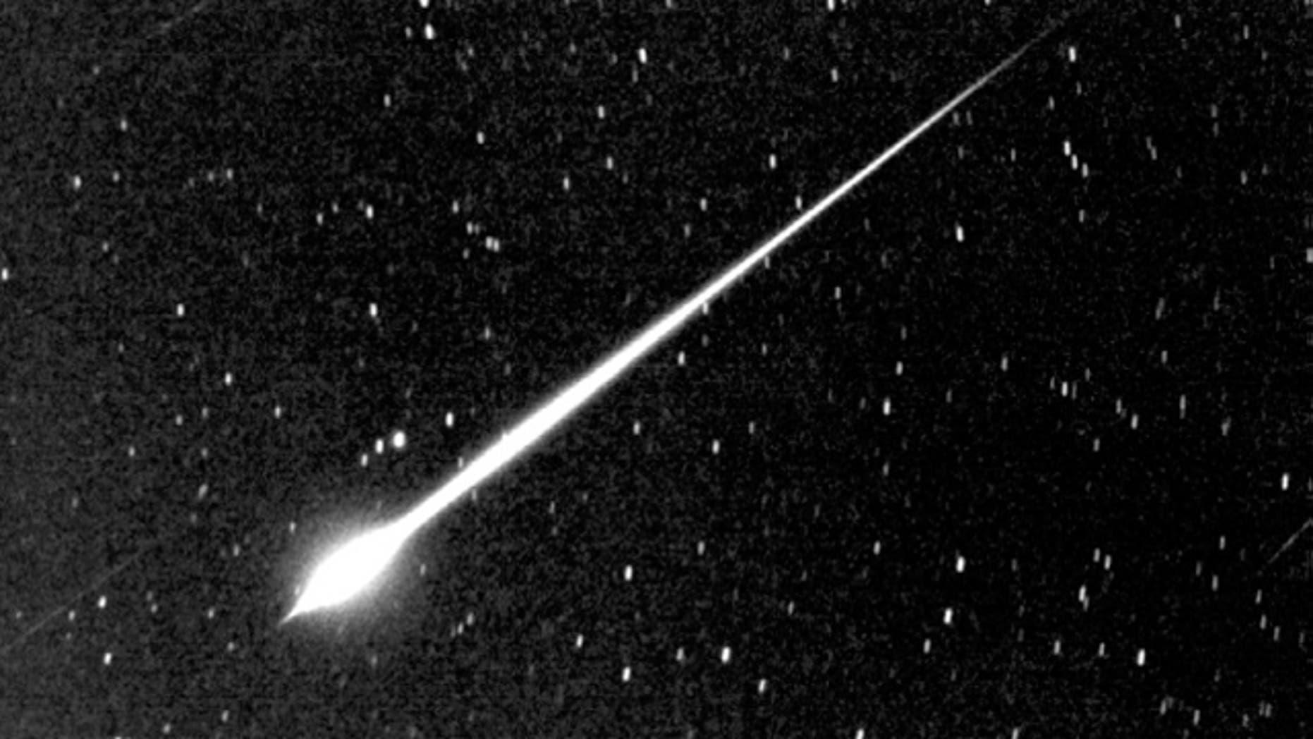 A NASA photograph of a meteor