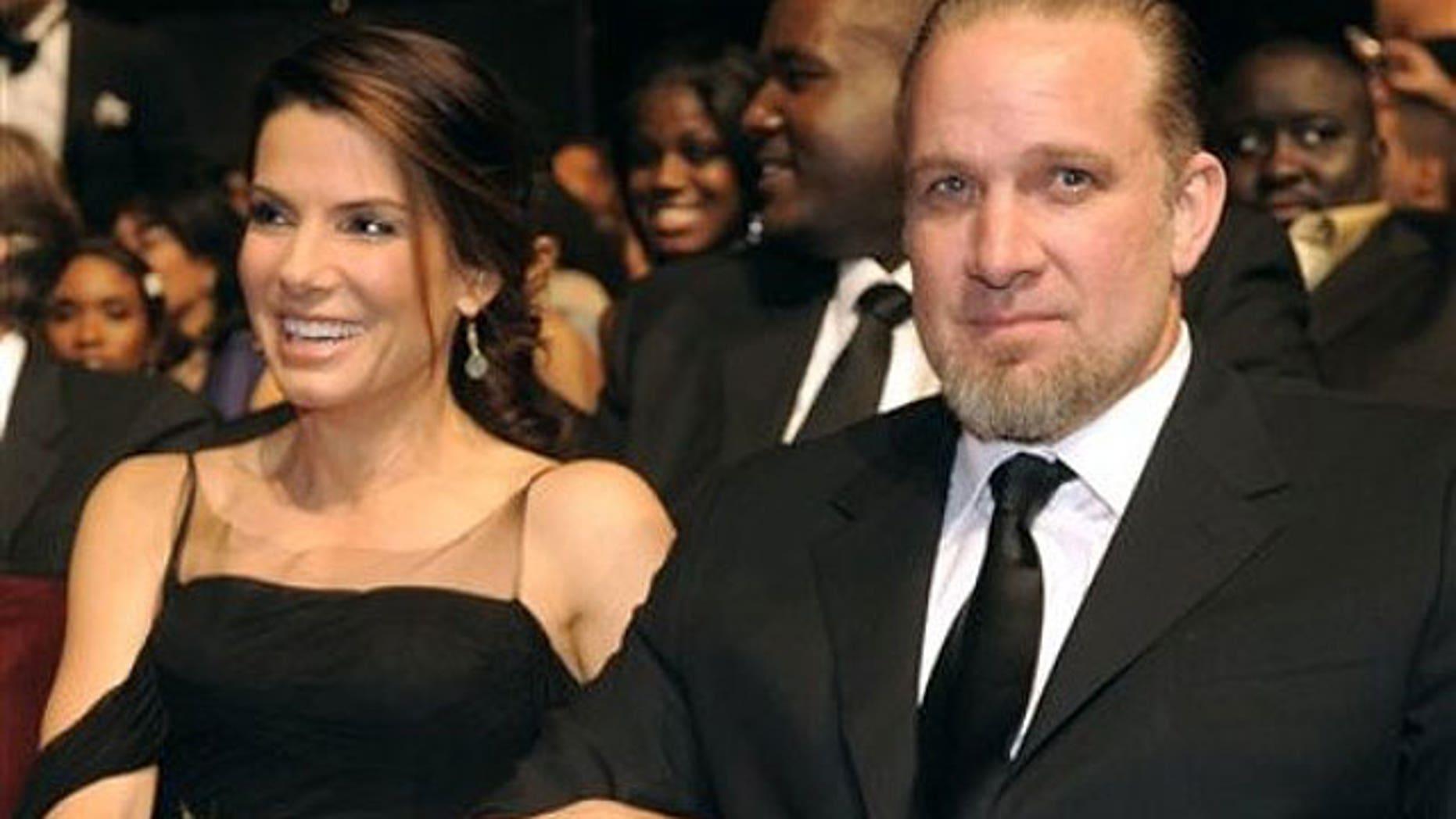 Bullock with ex-husband Jesse James.