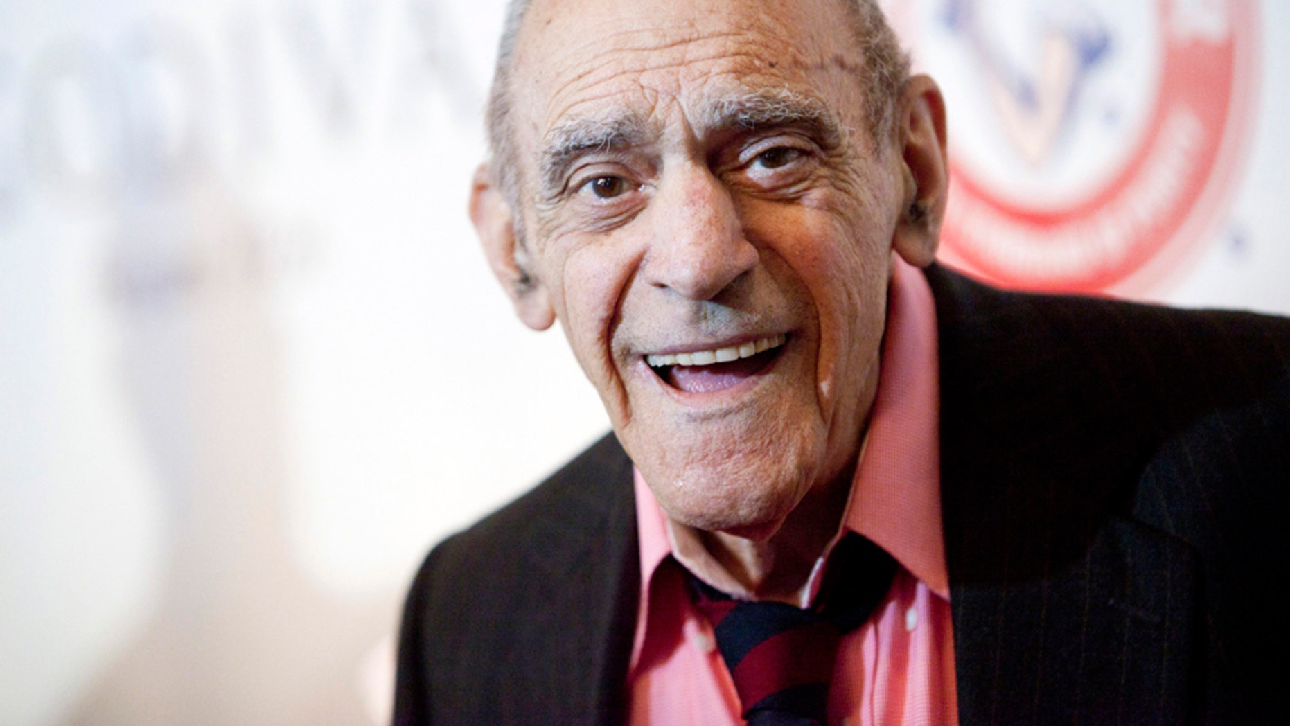 Actor Abe Vigoda smiles as he attends the Friars Club Roast of Betty White in New York May 16, 2012.