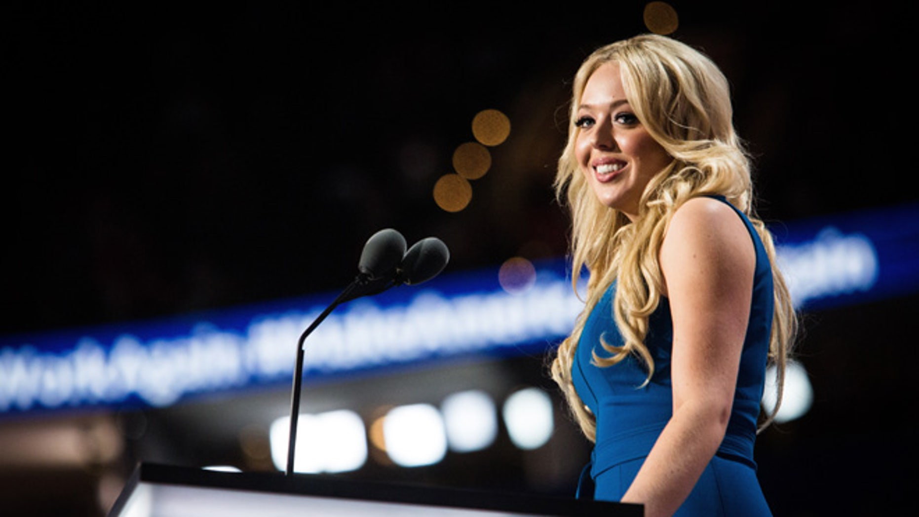 July 19, 2016: Tiffany Trump speaks at the Republican National Convention in Cleveland, Ohio.