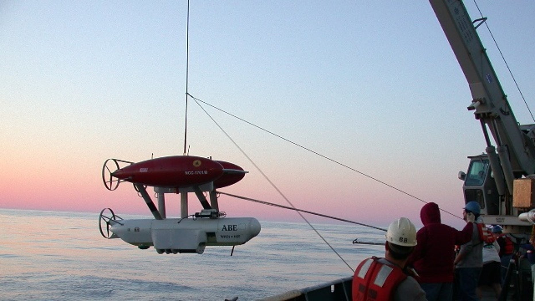 An underwater robot from the Woods Hole named ABE -- the The Autonomous Benthic Explorer -- was lost off the coast of Chile.