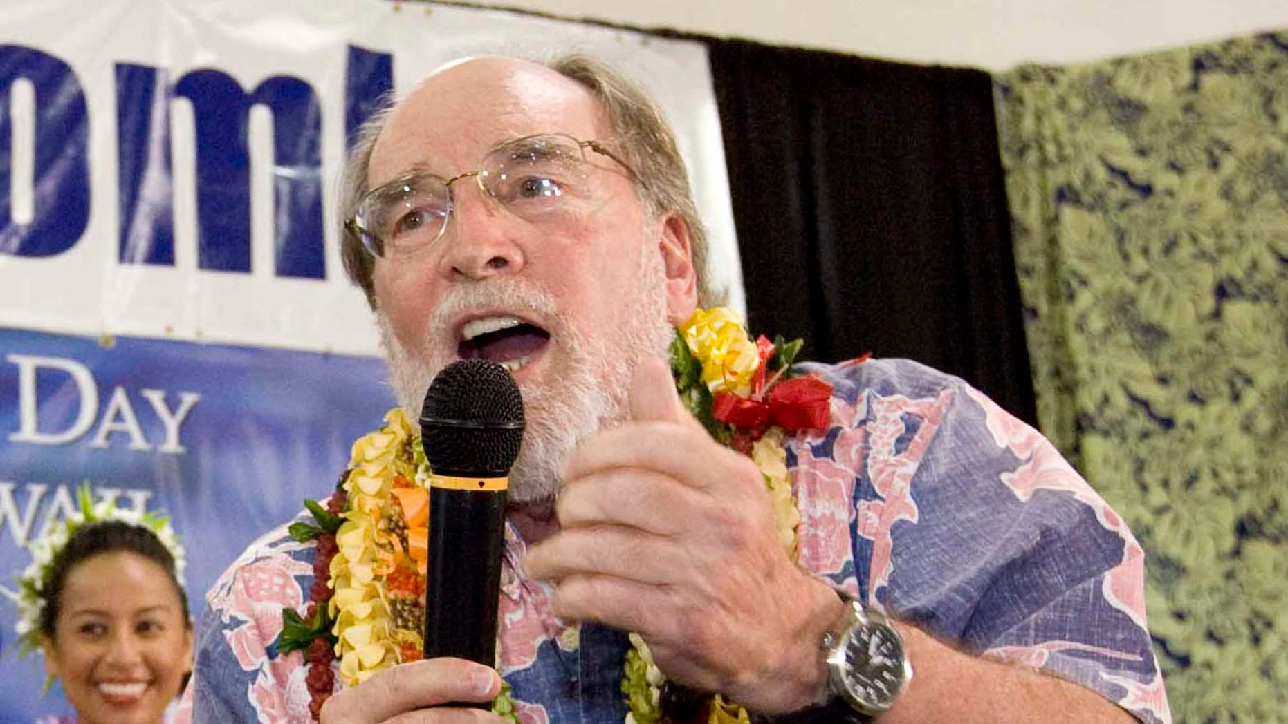 Sept. 18, 2010: Democratic gubernatorial candidate and former U.S. Rep. Neil Abercrombie, addresses his supporters at his campaign headquarters. (AP)